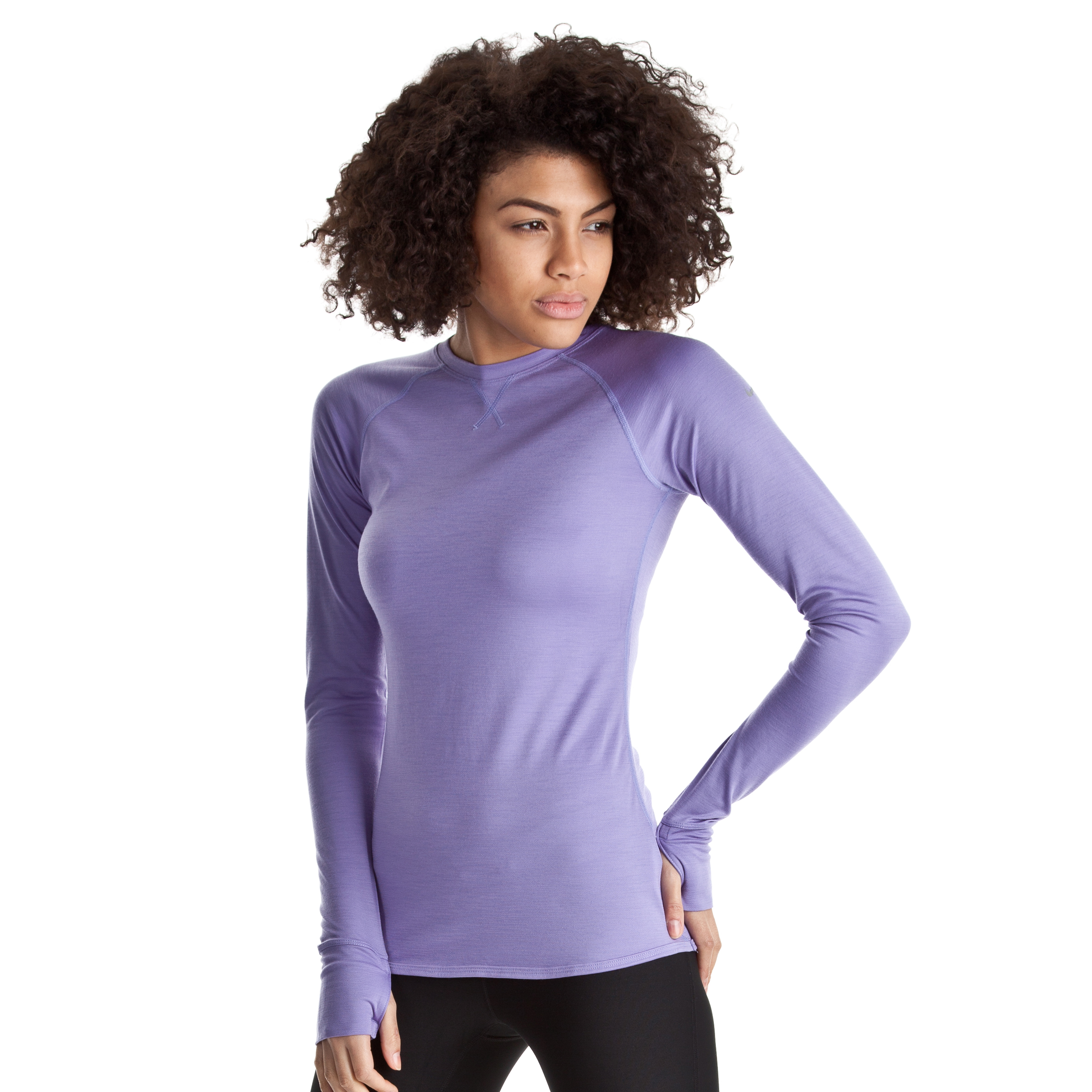 Nike Wool Crew LS Top - Medium Violet/Reflective Silv - Womens