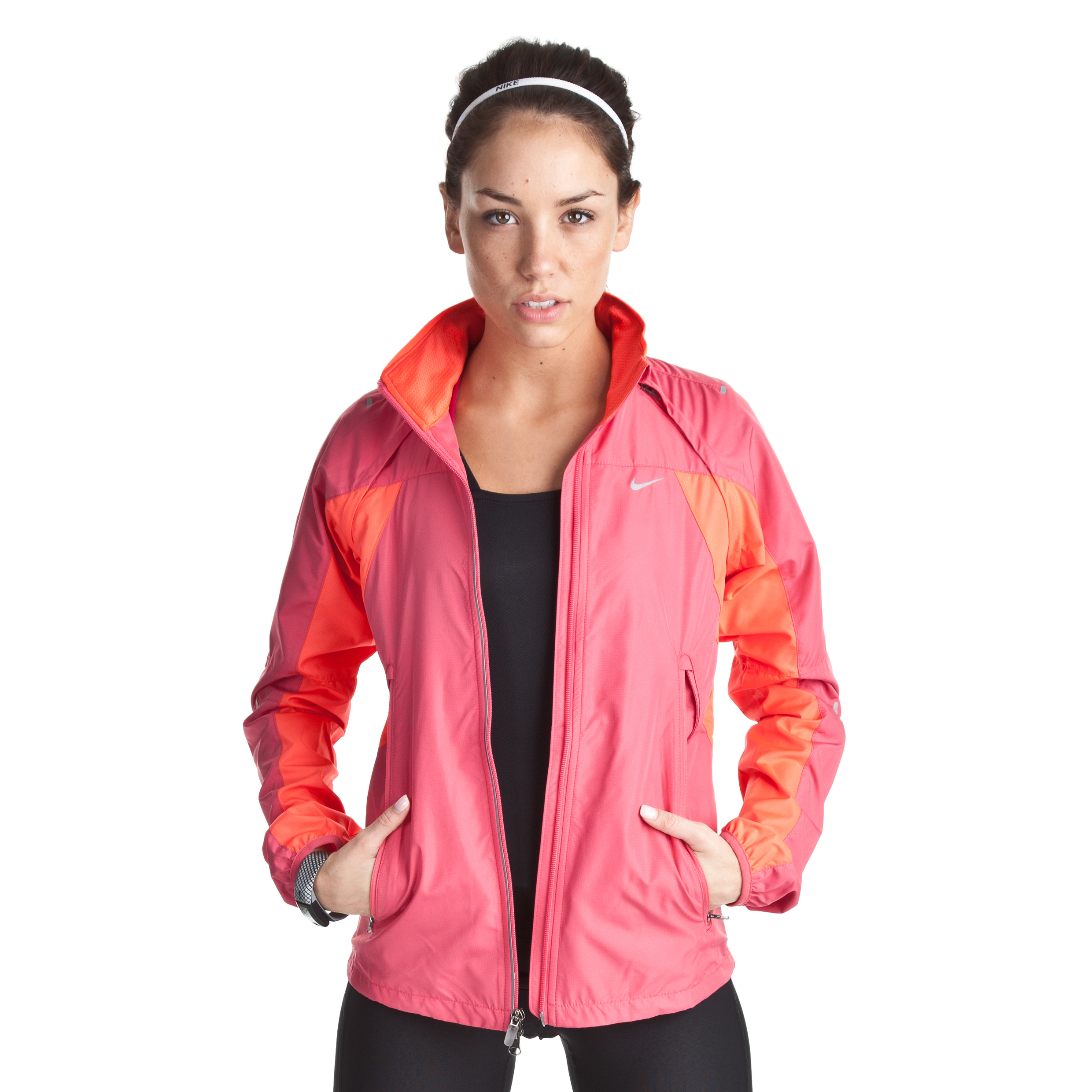 Nike Shifter Jacket - Pink Clay/Bright Crimson/Reflective Silv - Womens