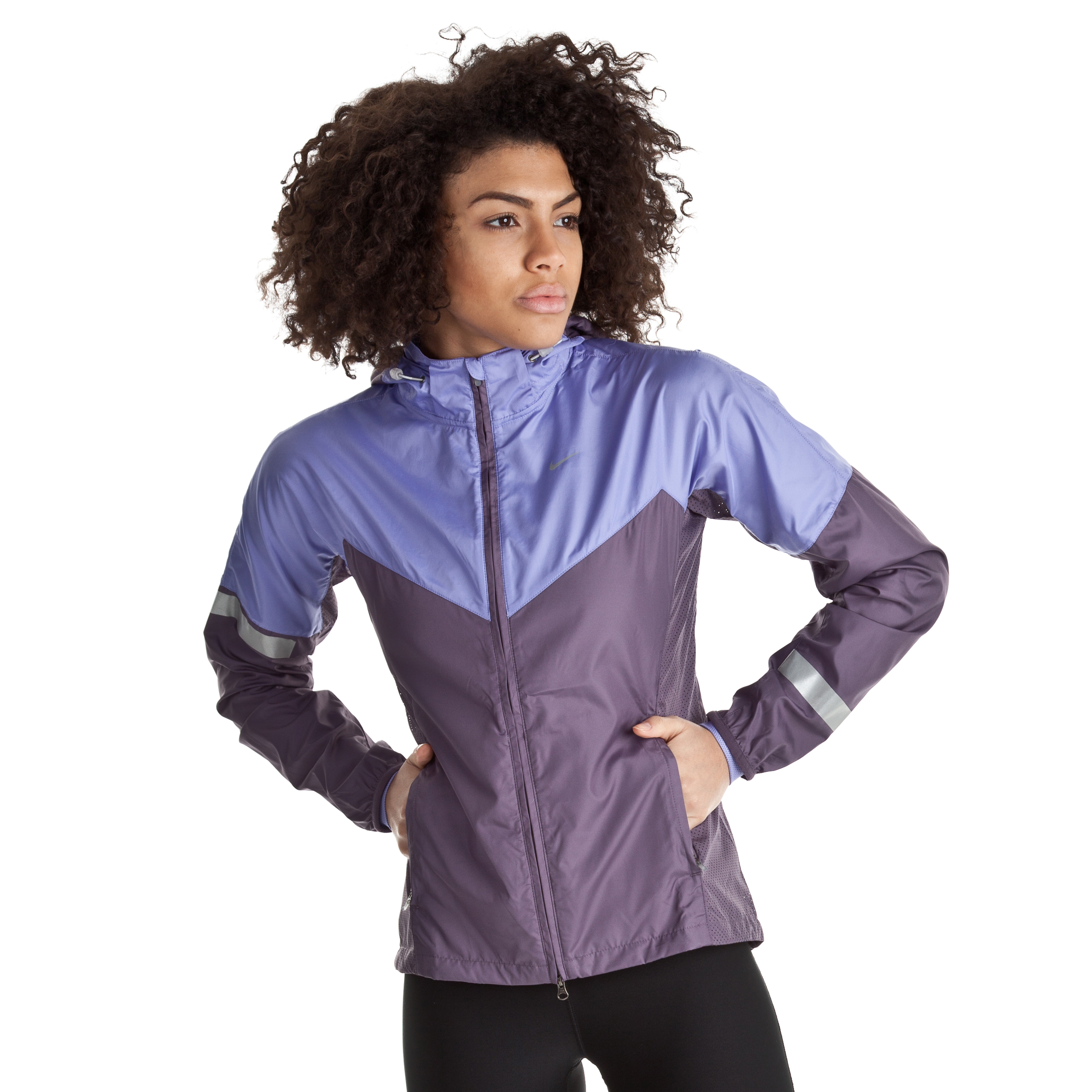 Nike Vapor Jacket - Dark Plum/Medium Violet/Reflective Silv - Womens