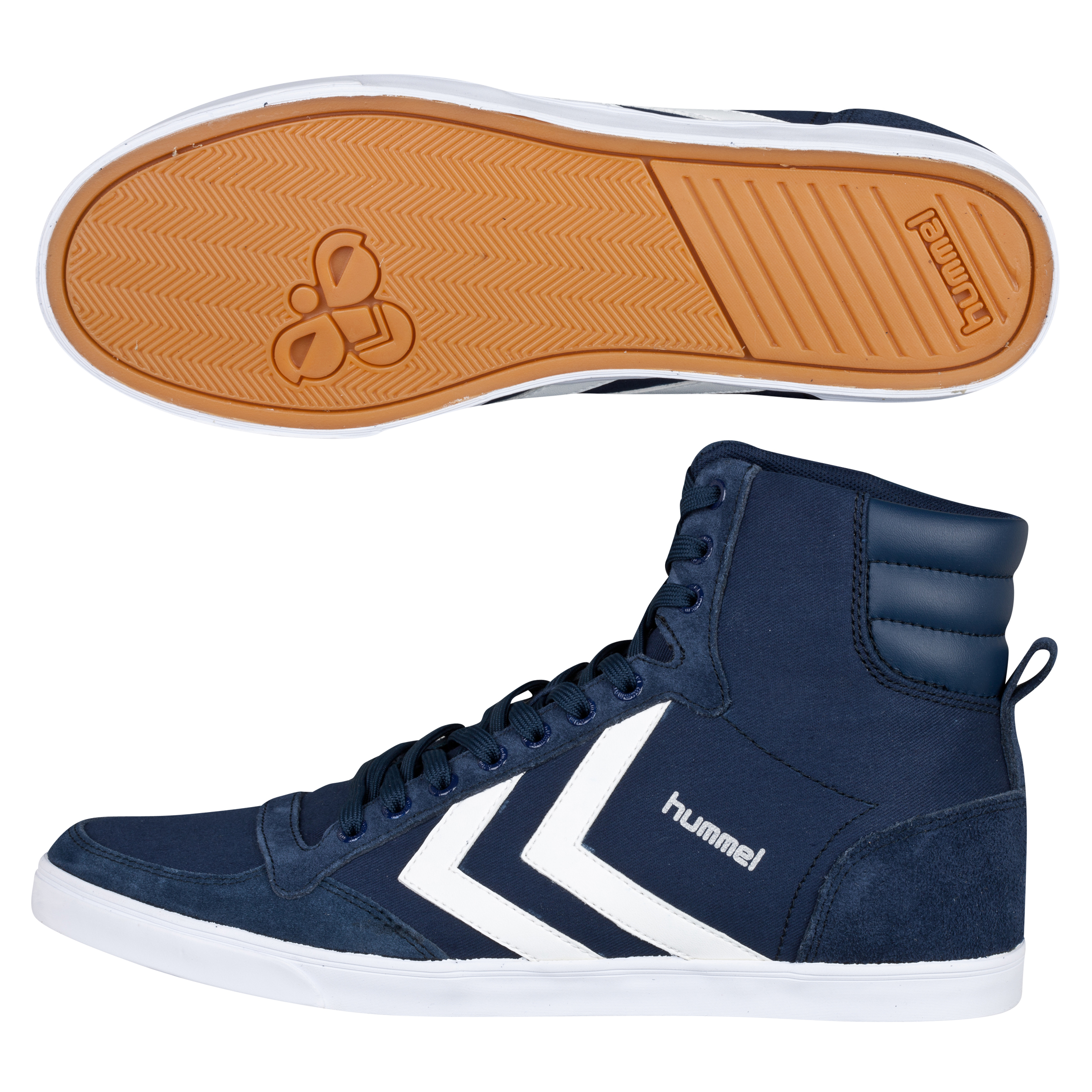 Hummel Slimmer Stadil High Canvas Trainers -  Dress Blue
