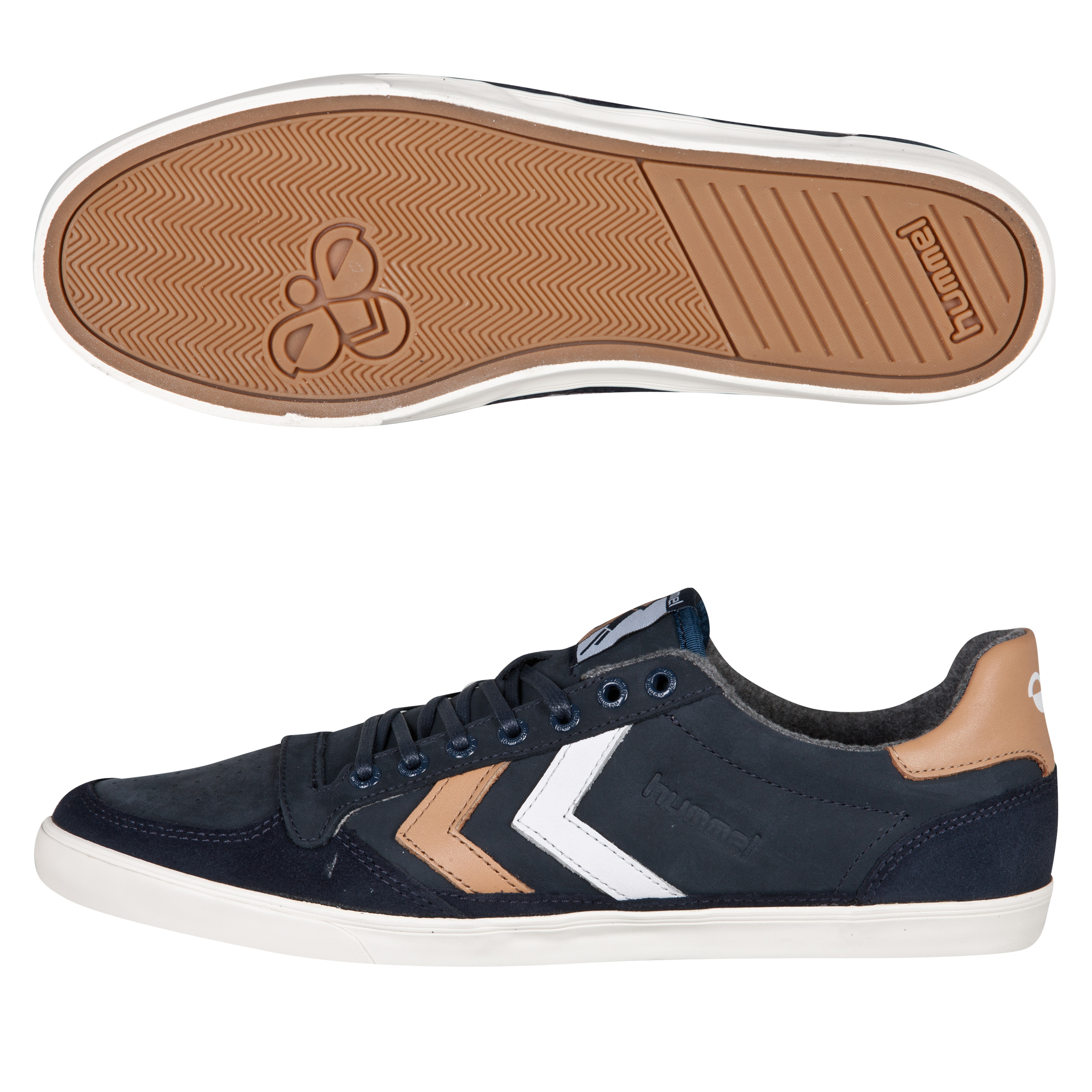 Hummel Ten Star Oiled Low Trainers - Dress Blue/Indian Tan/White