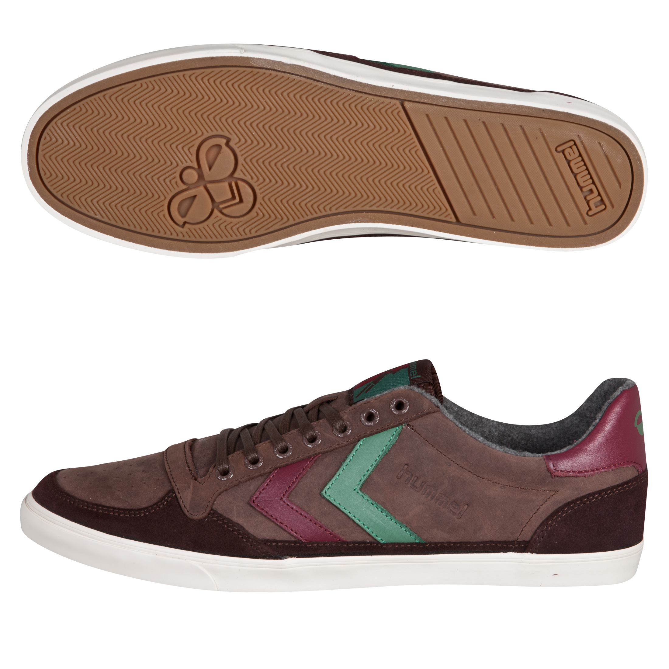 Hummel Ten Star Oiled Low Trainers - Chestnut/Tawny Port/Comfrey