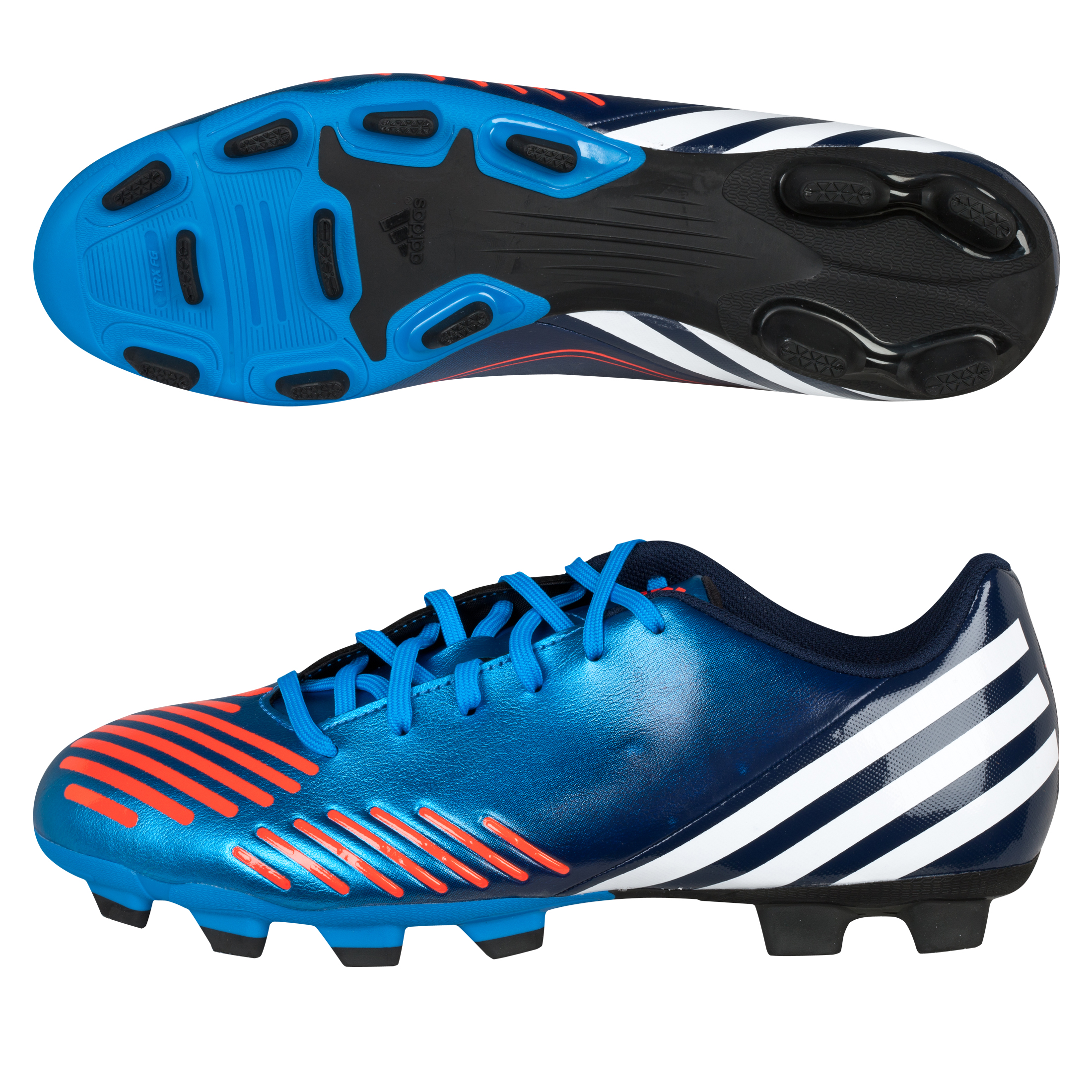 Adidas Predator LZ TRX Frim Ground Football Boots - Bright Blue/Running White/Infrared