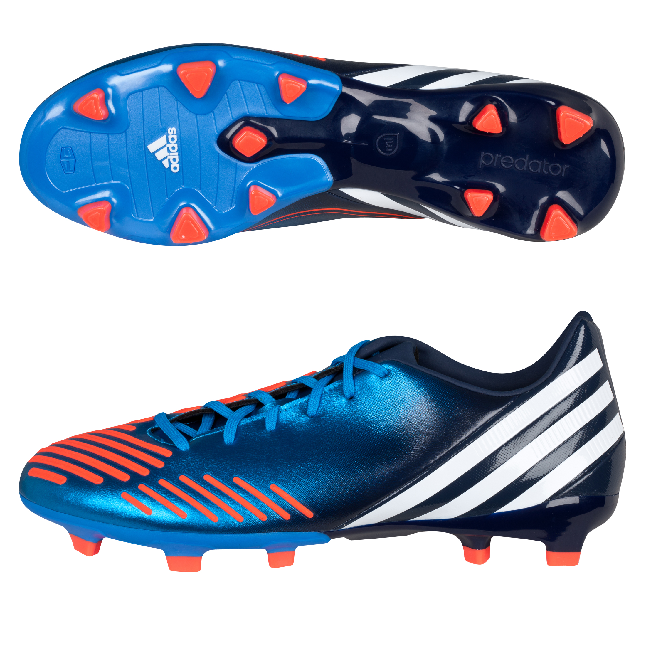 Adidas Predator Absolion LZ TRX Firm Ground Football Boots - Bright Blue/Running White/Infrared