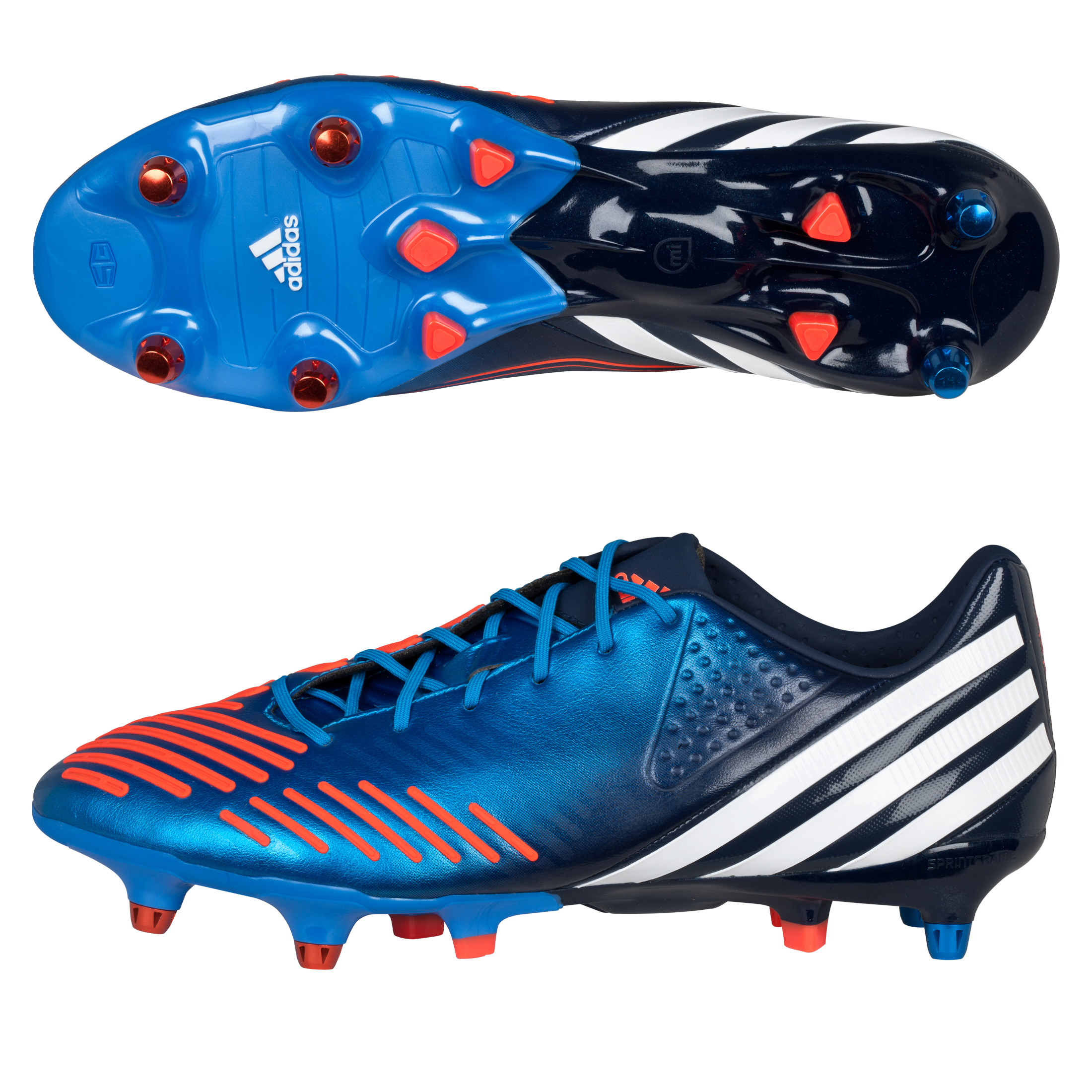 Adidas Predator LZ XTRX Soft Ground Football Boots - Bright Blue/Running White/Infrared