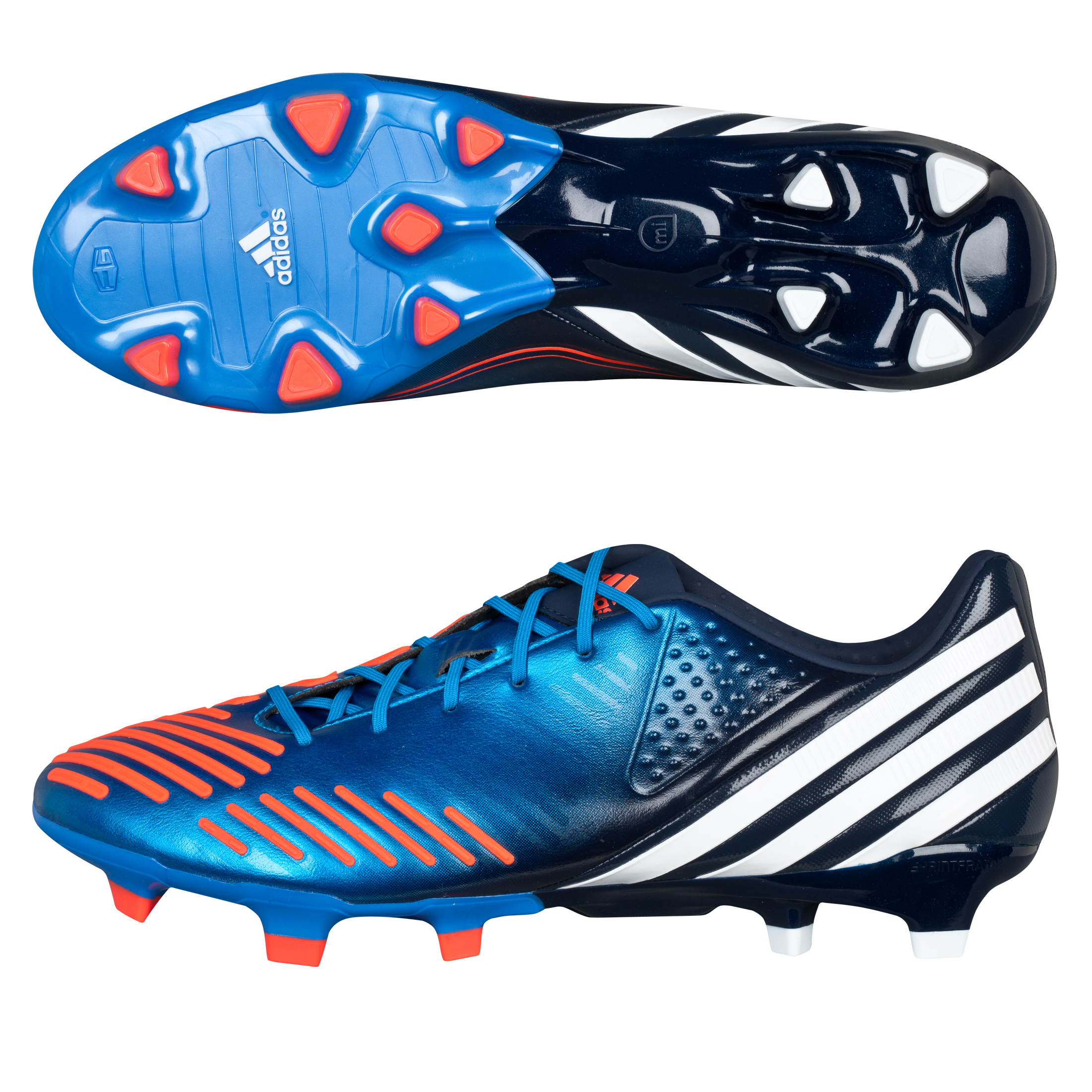 Adidas Predator LZ TRX Firm Ground Football Boots - Bright Blue/Running White/Infrared