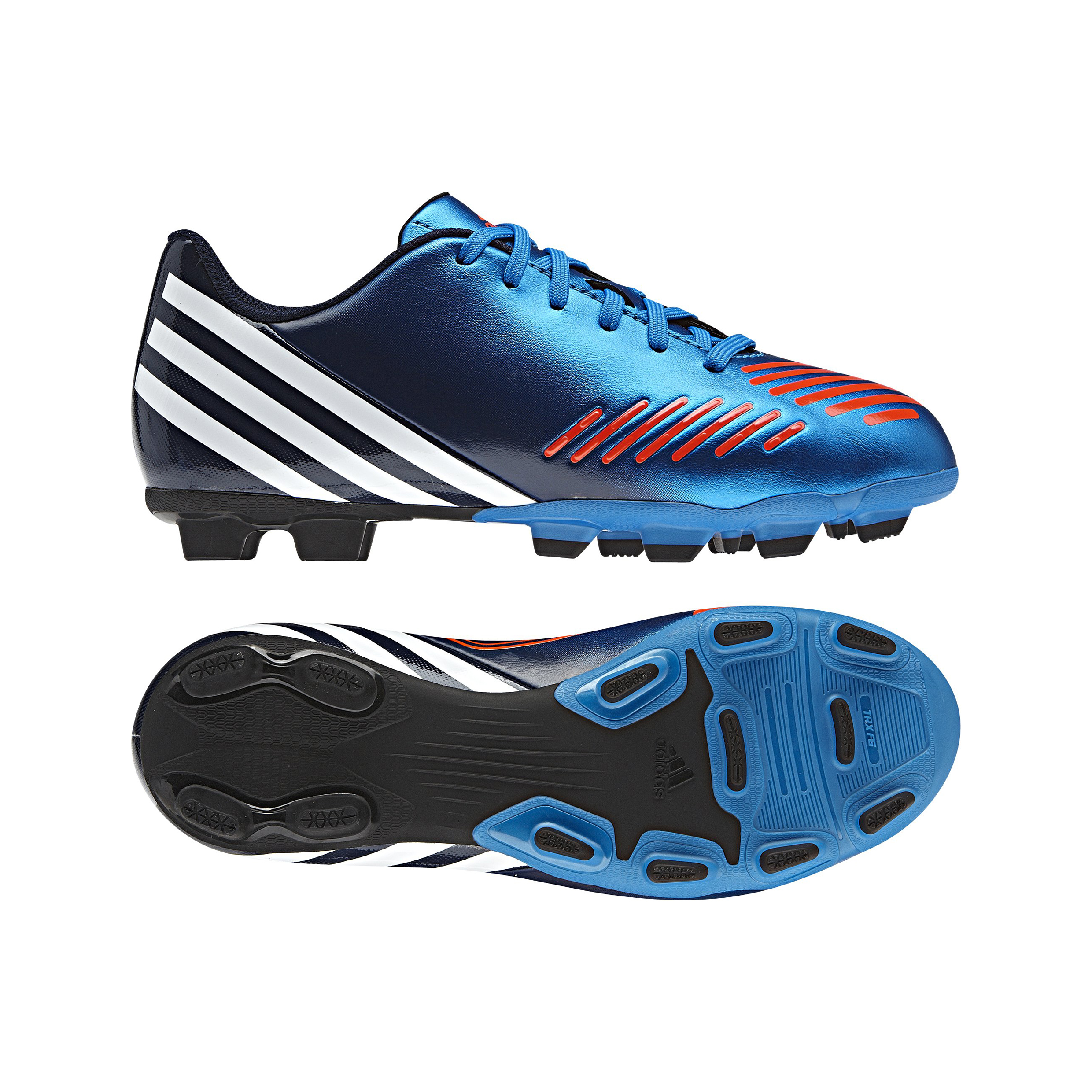 Adidas Predator LZ TRX Frim Ground Football Boots - Bright Blue/Running White/Infrared - Kids