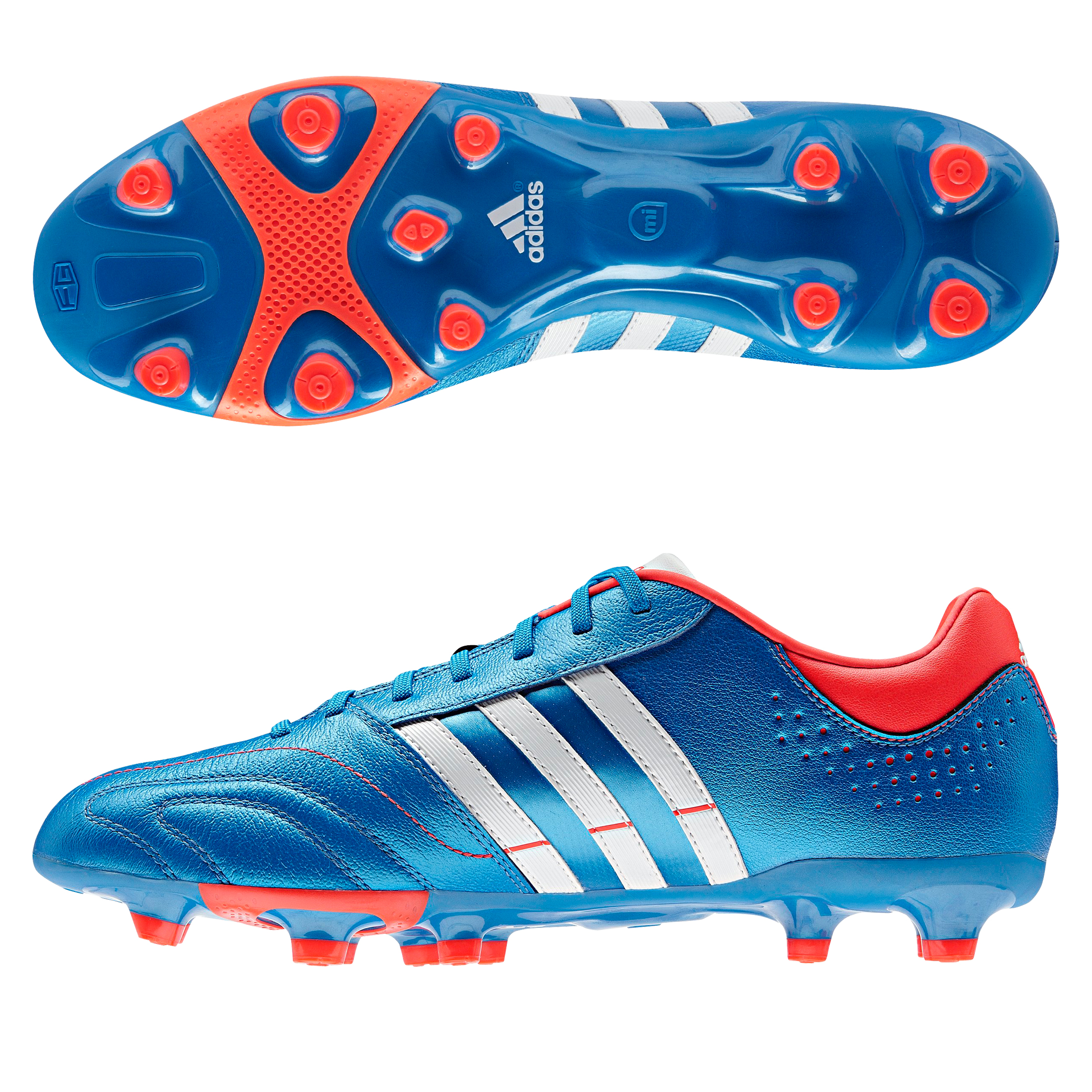 Adidas 11Nova TRX Firm Ground Football Boots - Bright Blue/Running White/Infrared