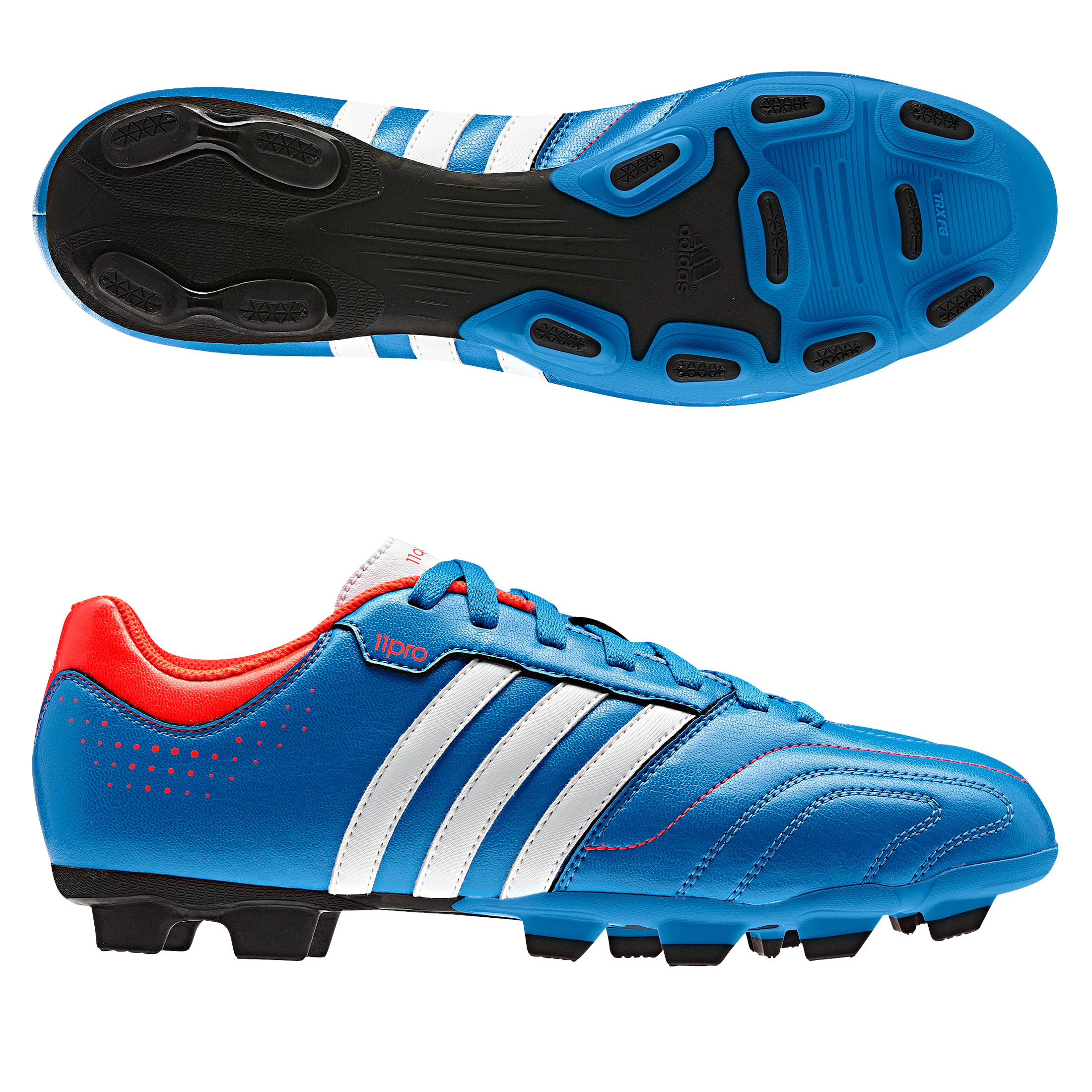 Adidas 11Questra TRX Firm Ground Football Boots - Bright Blue/Running White/Infrared