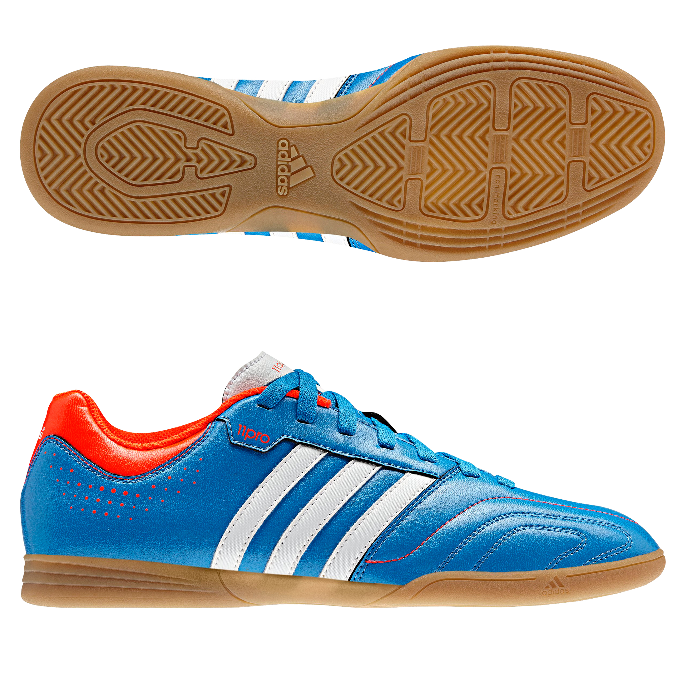 Adidas 11Questra Indoor Trainers - Bright Blue/Running White/Infrared