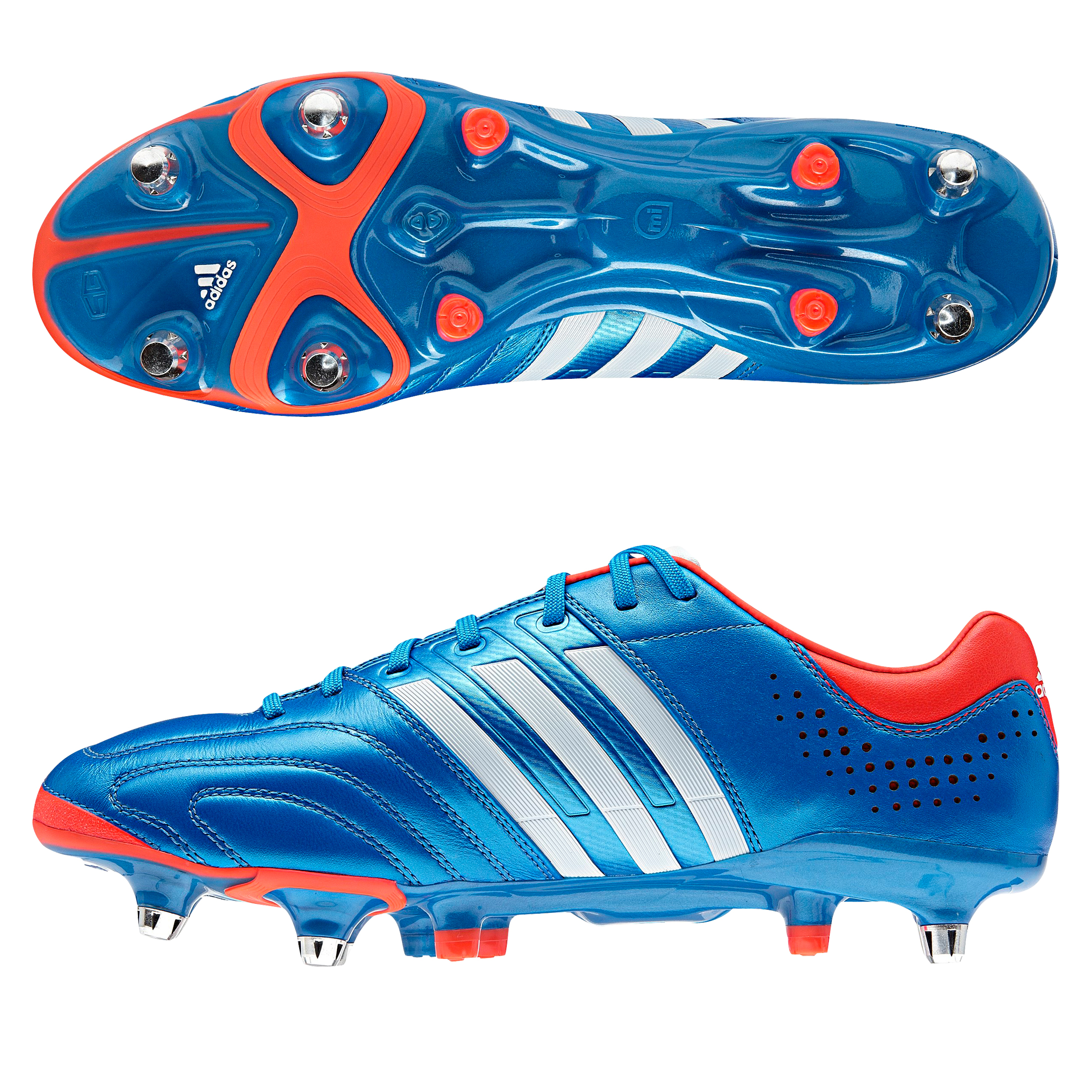 Adidas Adipure 11Pro XTRX Soft Ground Football Boots - Bright Blue/Running White/Infrared