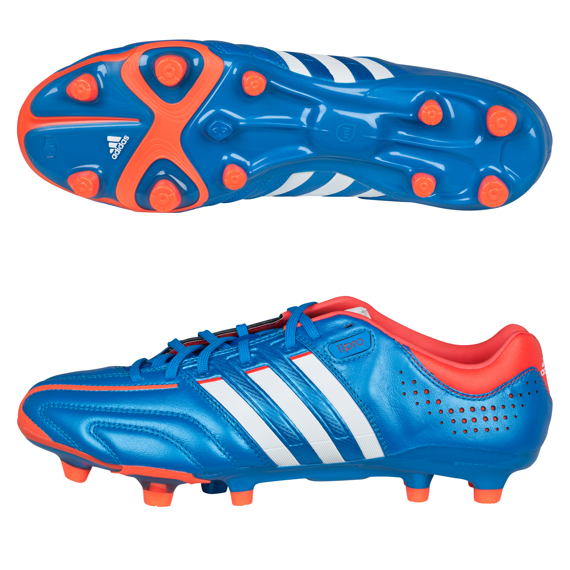 Adidas Adipure 11Pro TRX Firm Ground Football Boots - Bright Blue/Running White/Infrared
