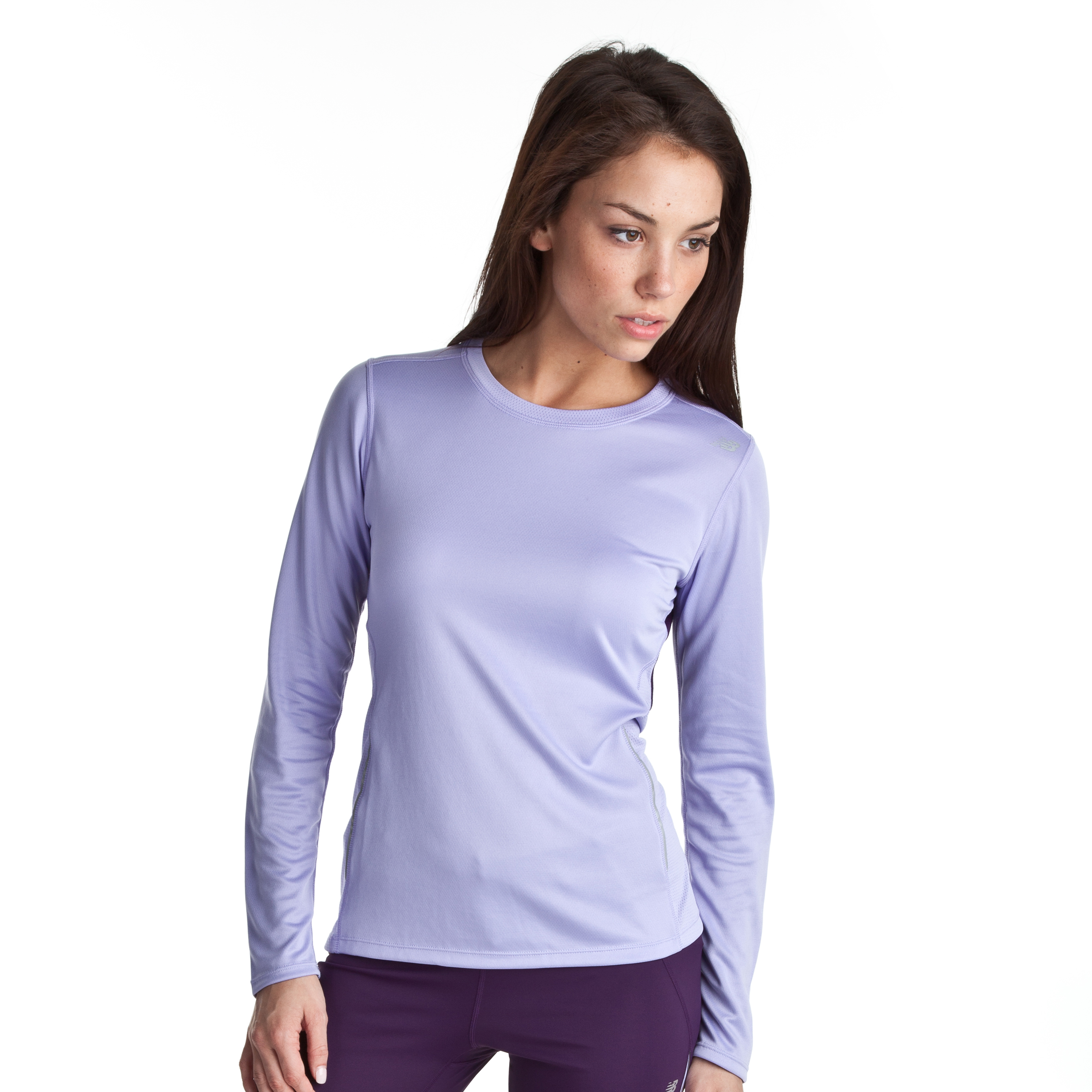 New Balance CB Tempo LS Top - Violet tulip - Womens