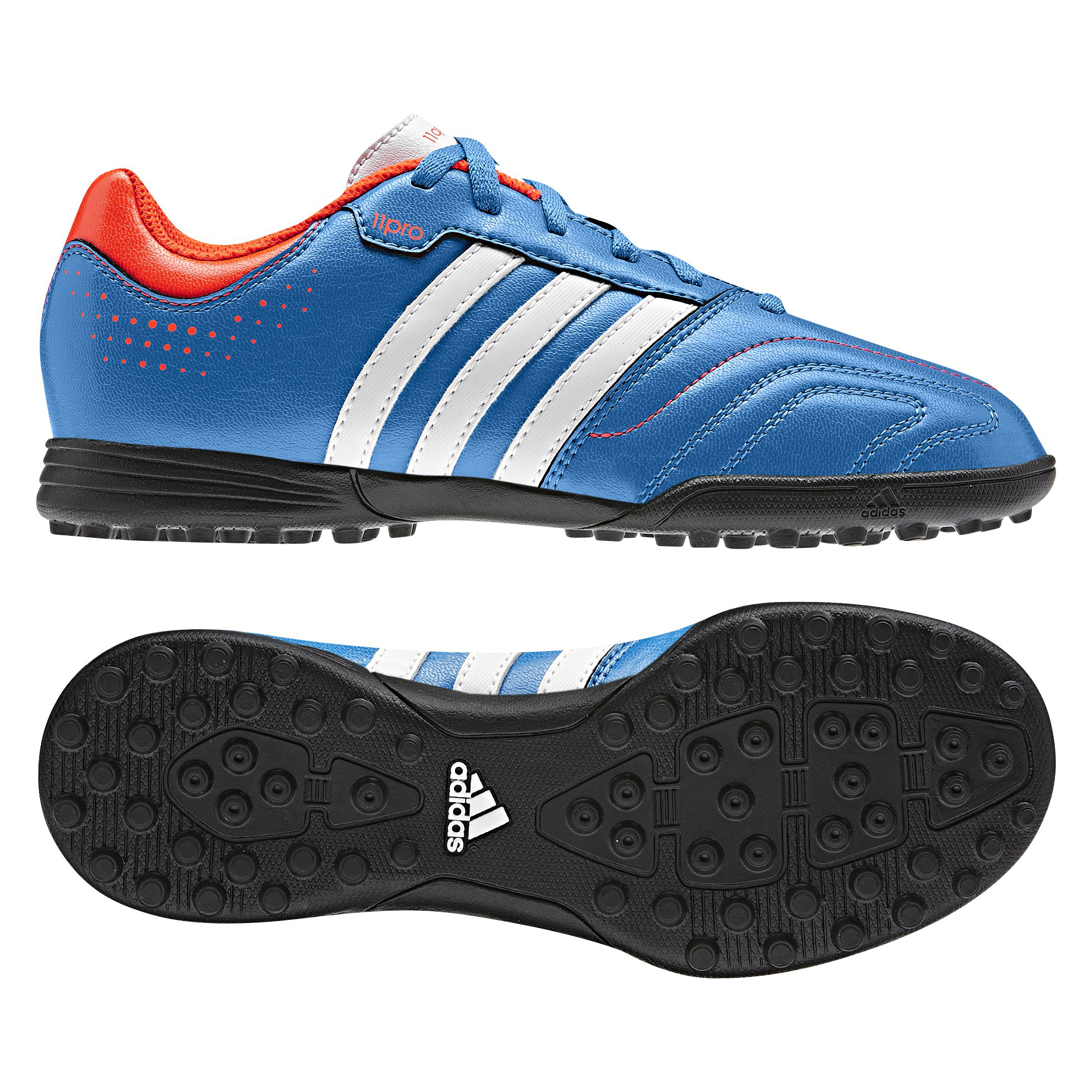 Adidas 11Questra TRX Astro Turf Trainers - Bright Blue/Running White/Infrared - Kids