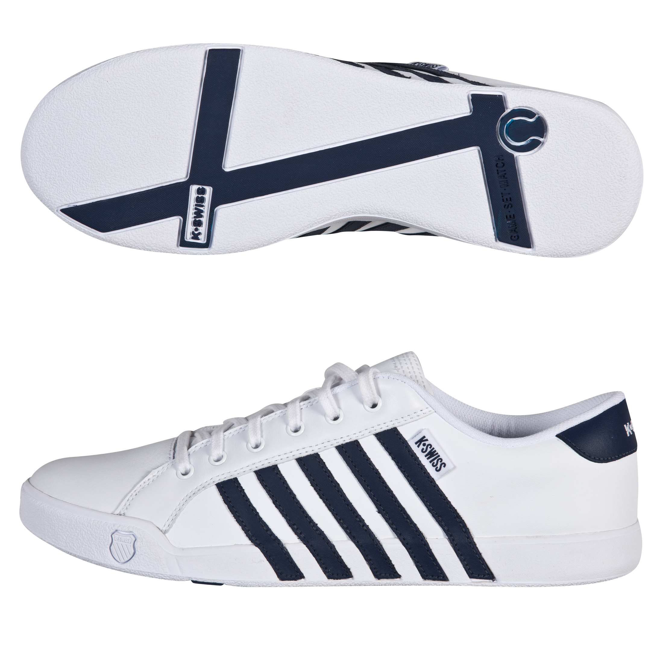 K Swiss K-Swiss Newport II Trainers - White/Navy