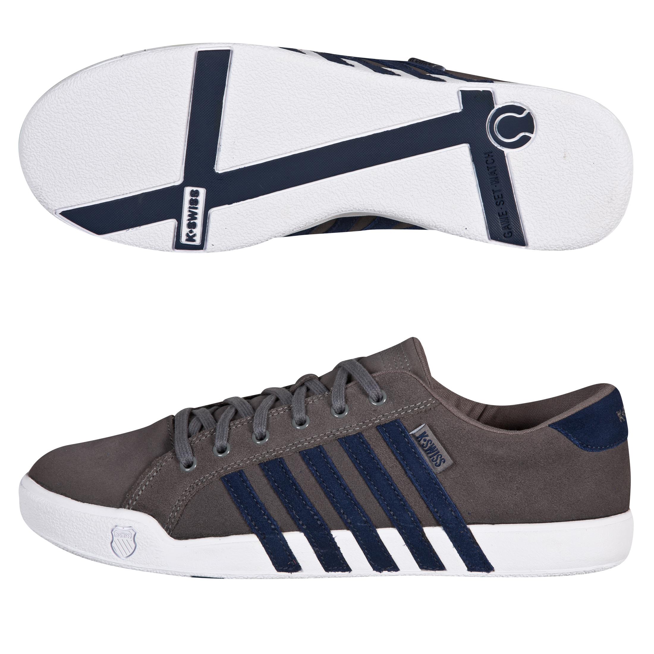 K-Swiss Newport II SDE Trainers - Charcoal/Navy