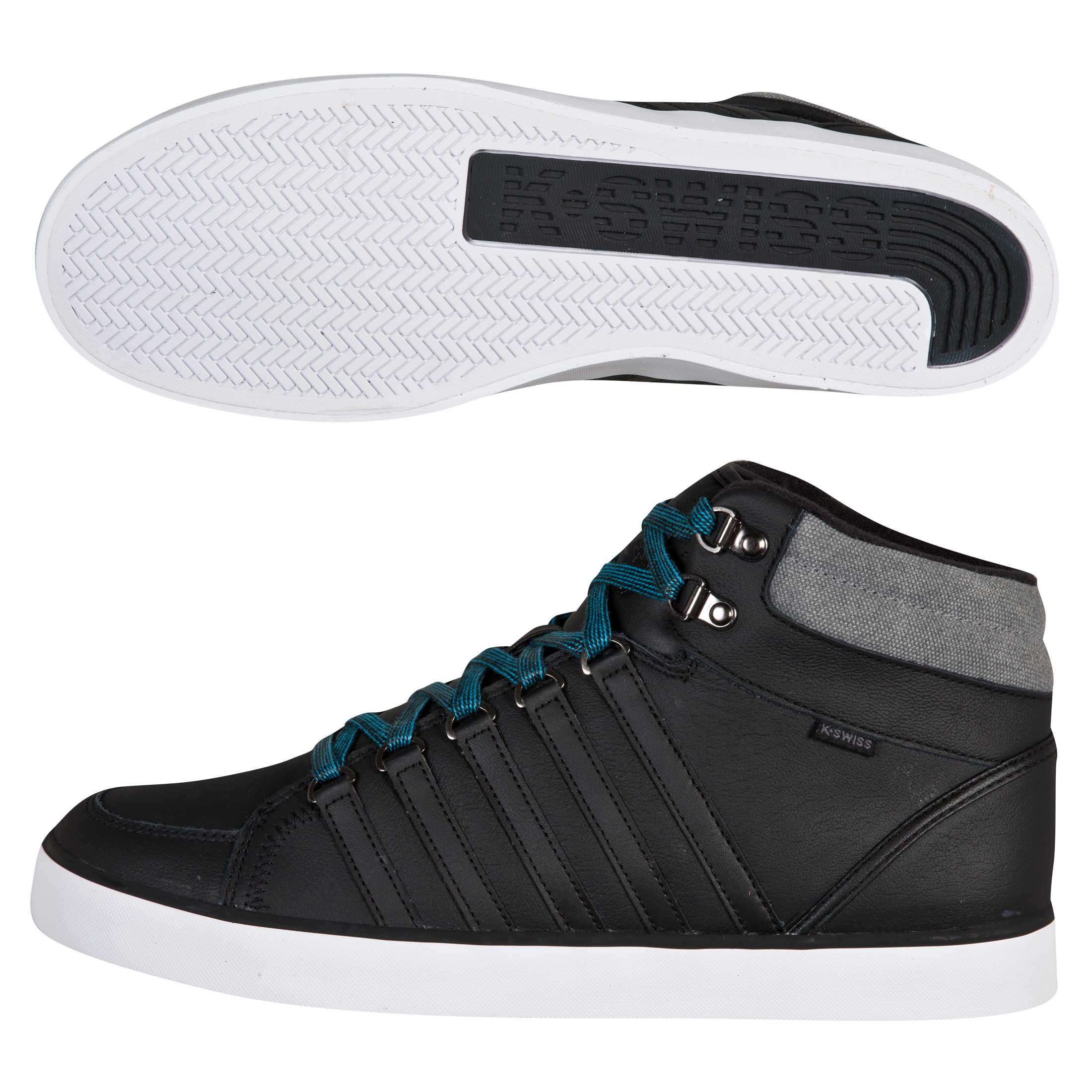 K-Swiss Gowmet II Mid VNZ Trainers - Black/Castle Grey/White