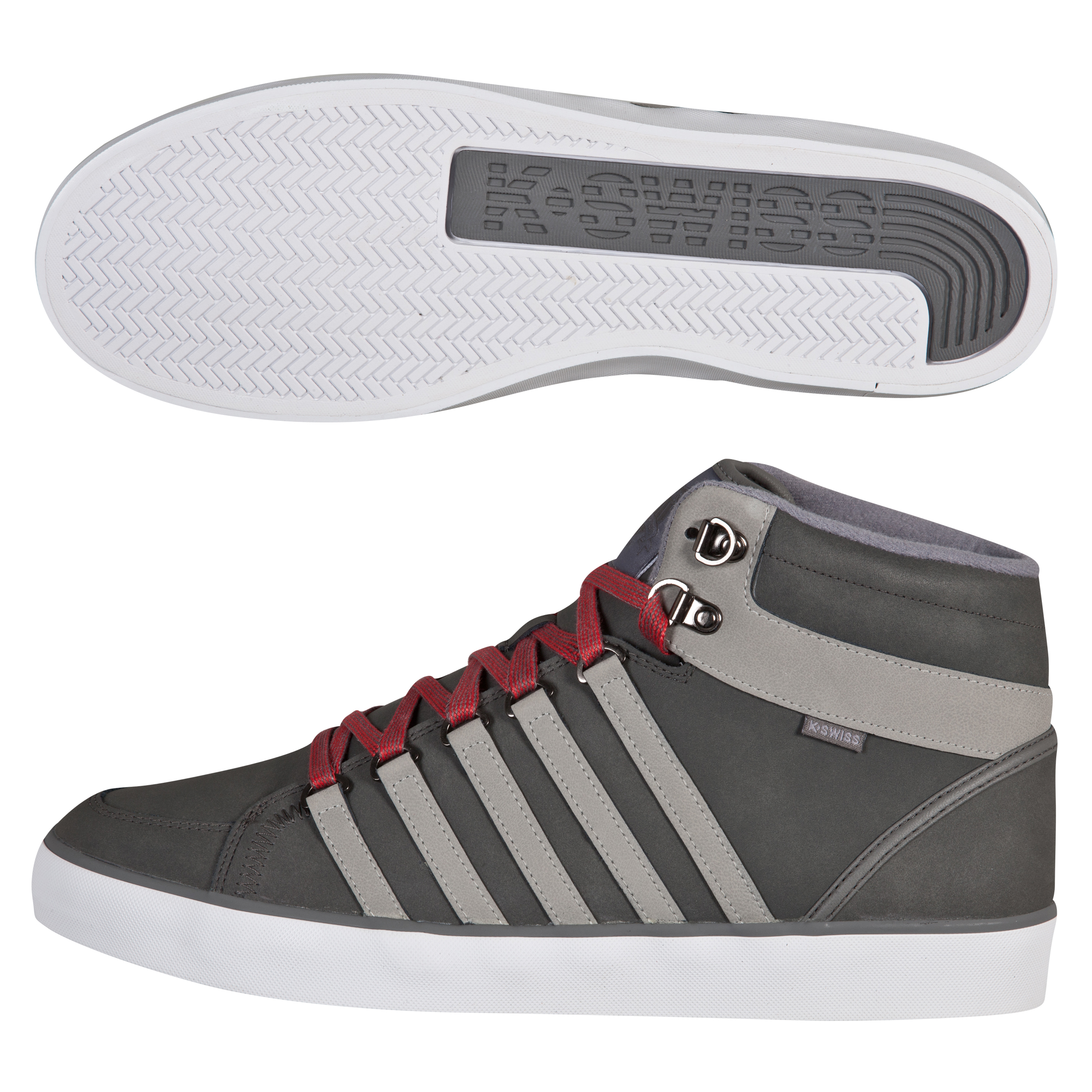 K Swiss K-Swiss Gowmet II Mid VNZ Trainers - Carbon/Stingray/White
