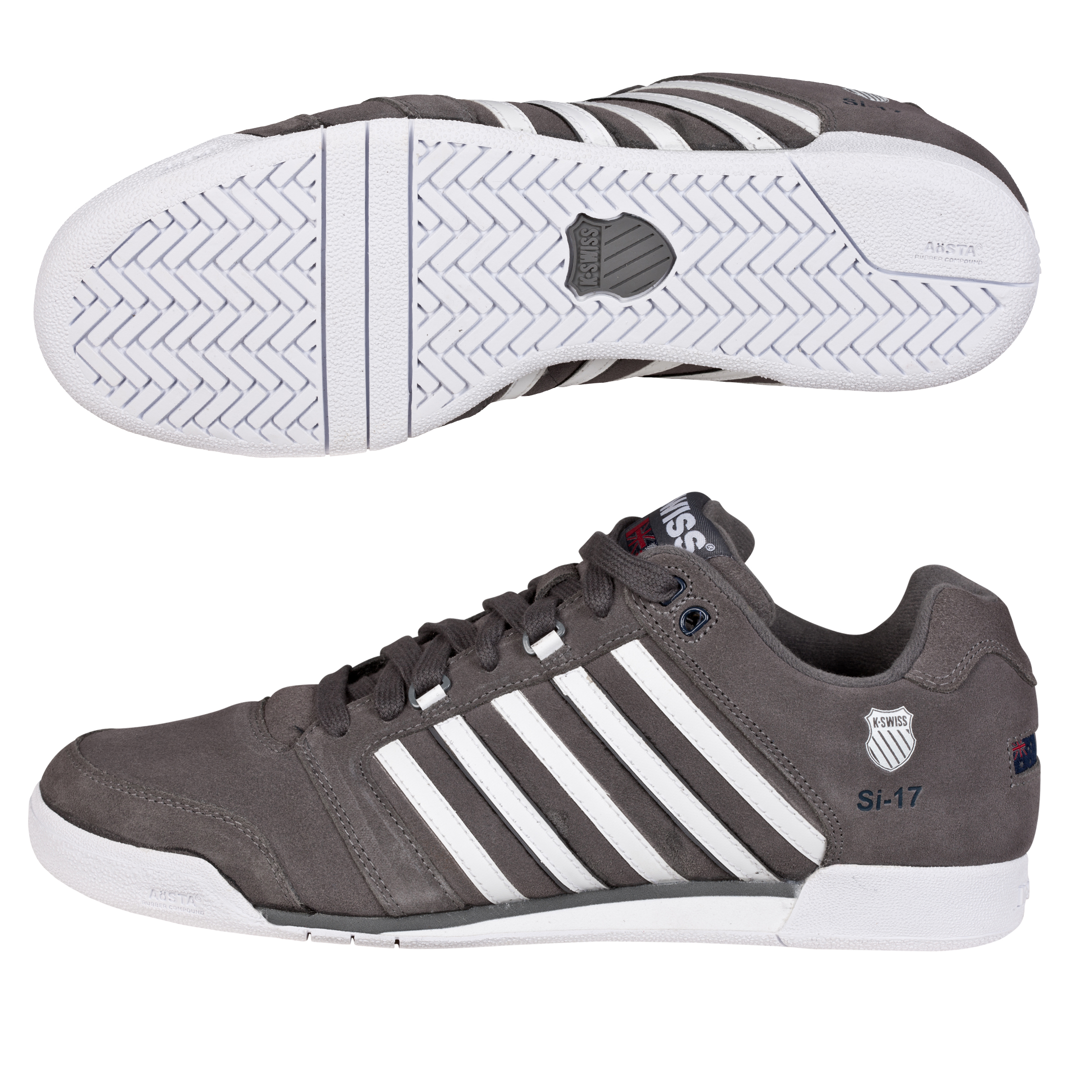 K-Swiss SI-17 SDE Trainers - Charcoal/White/Navy