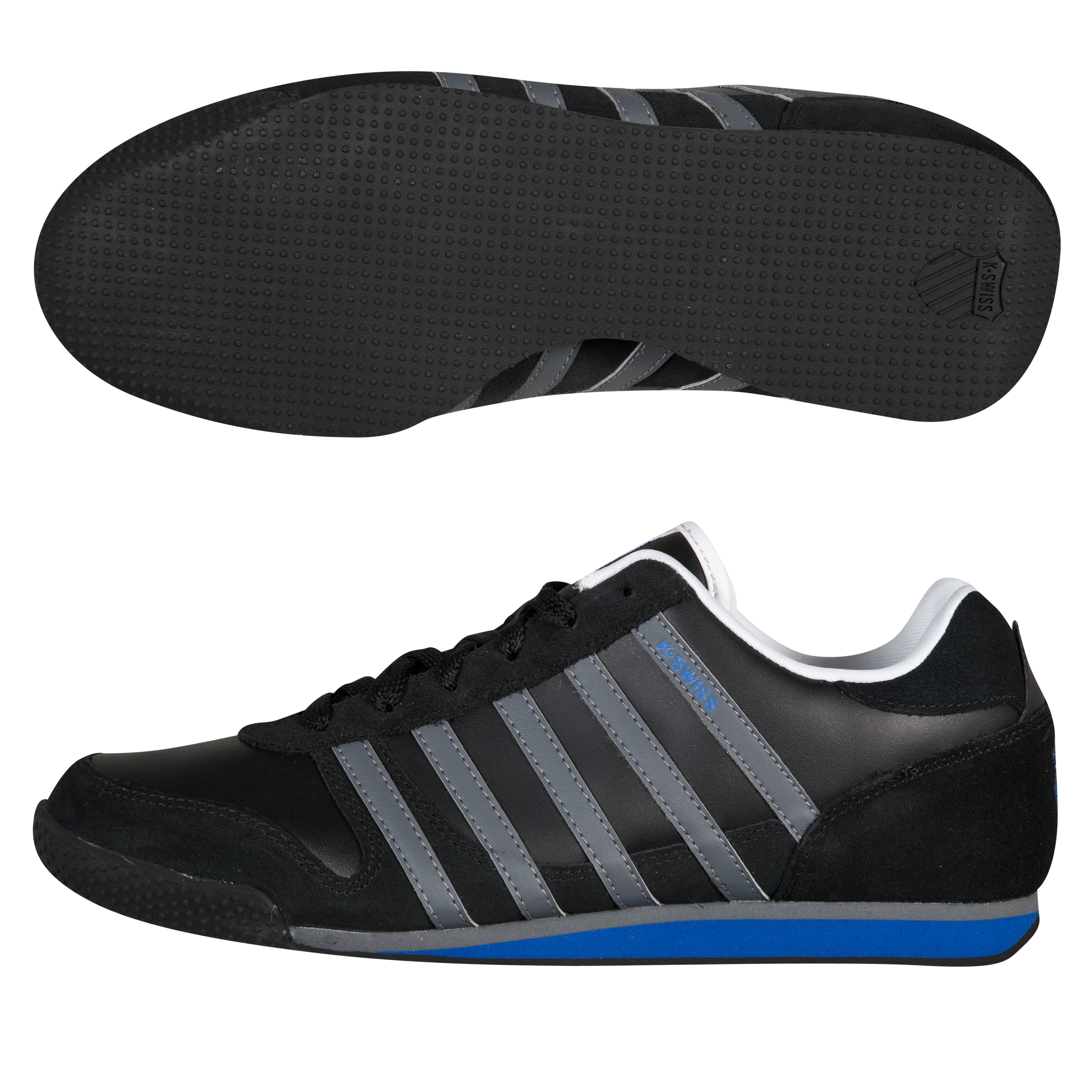 K Swiss K-Swiss Whitburn Leather Trainers - Black/Blue