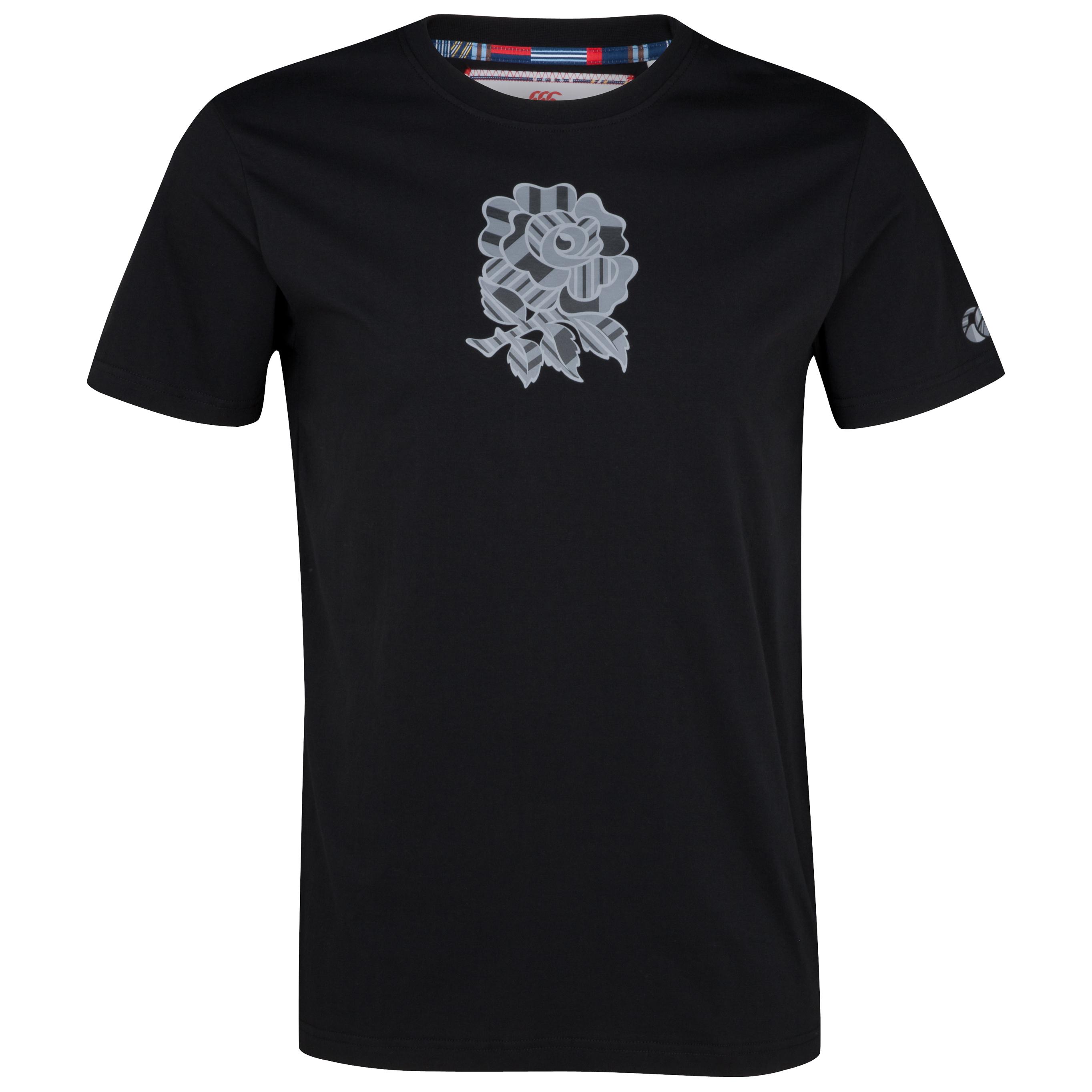 England Uglies Tonal Cotton T-Shirt - Black