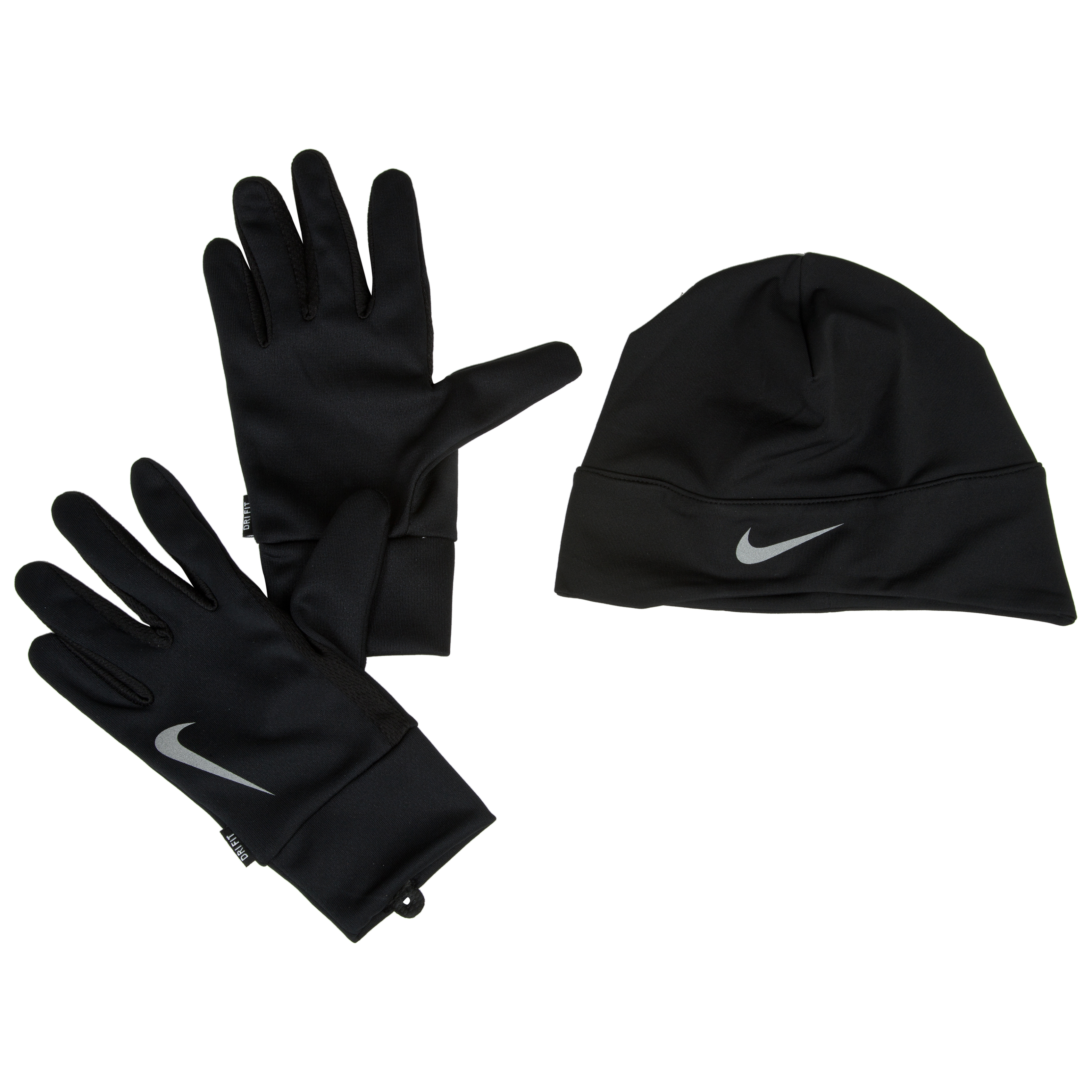 Nike Mens Running Dri-Fit Glove/Beanie Set