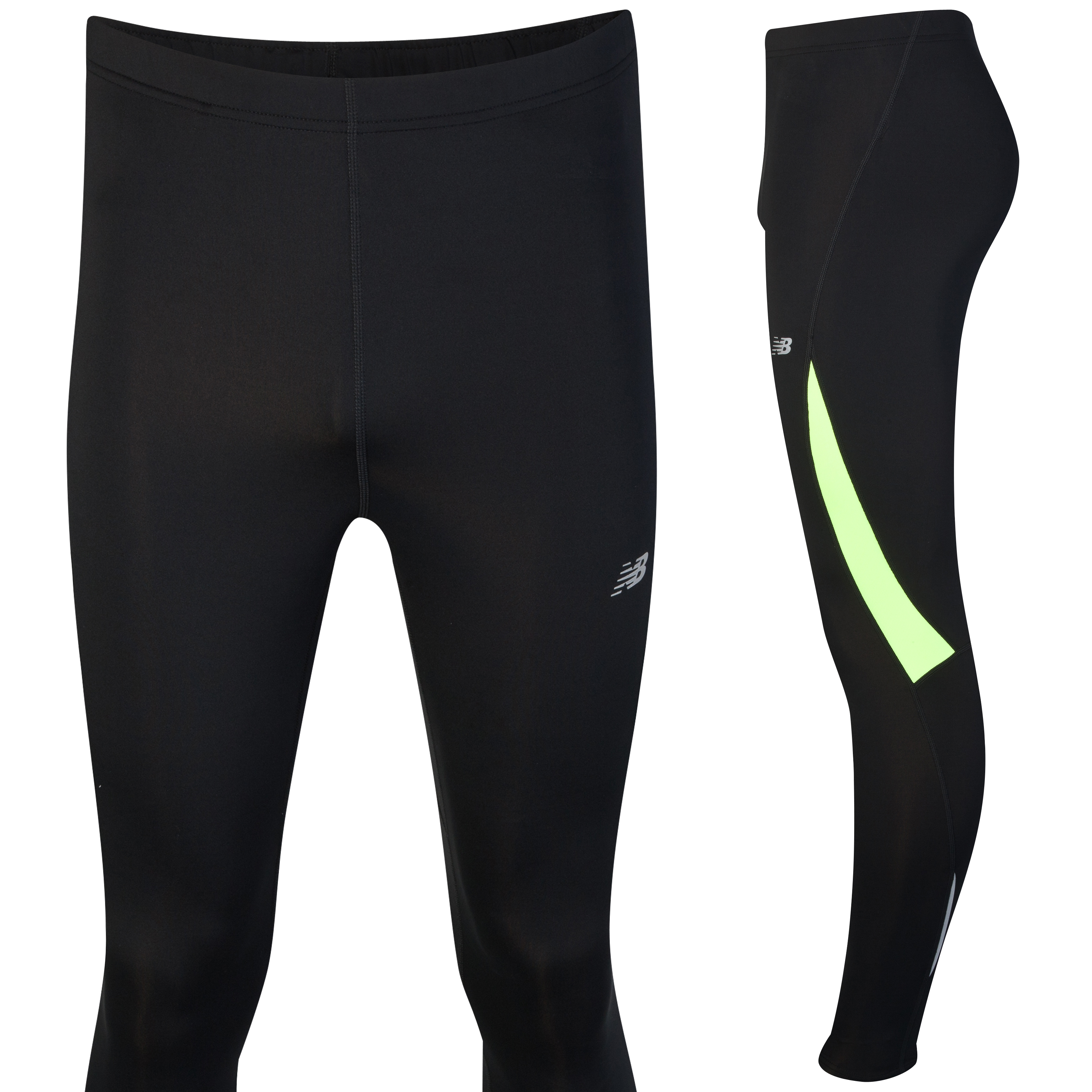 New Balance Go 2 Tights - Black/Yellow