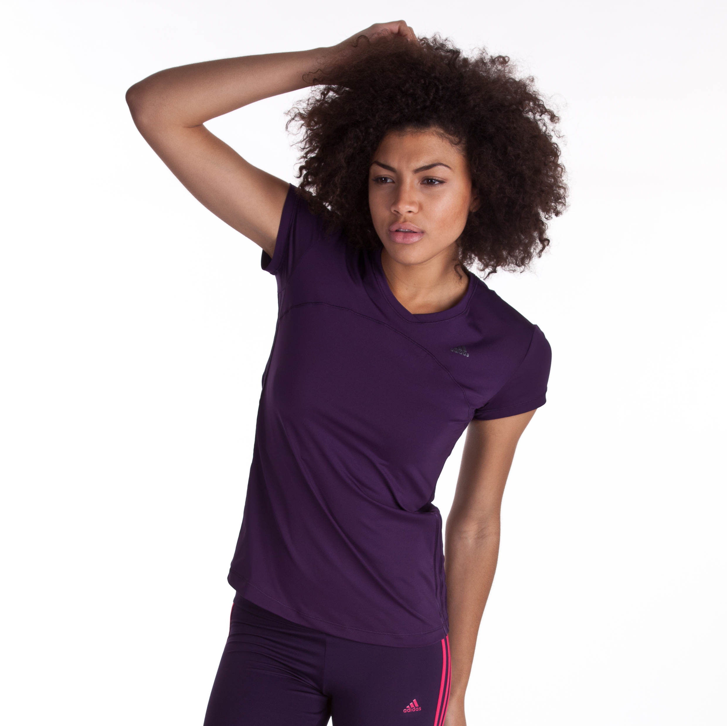Adidas Climacool Training Core T-Shirt - Purple - Womens