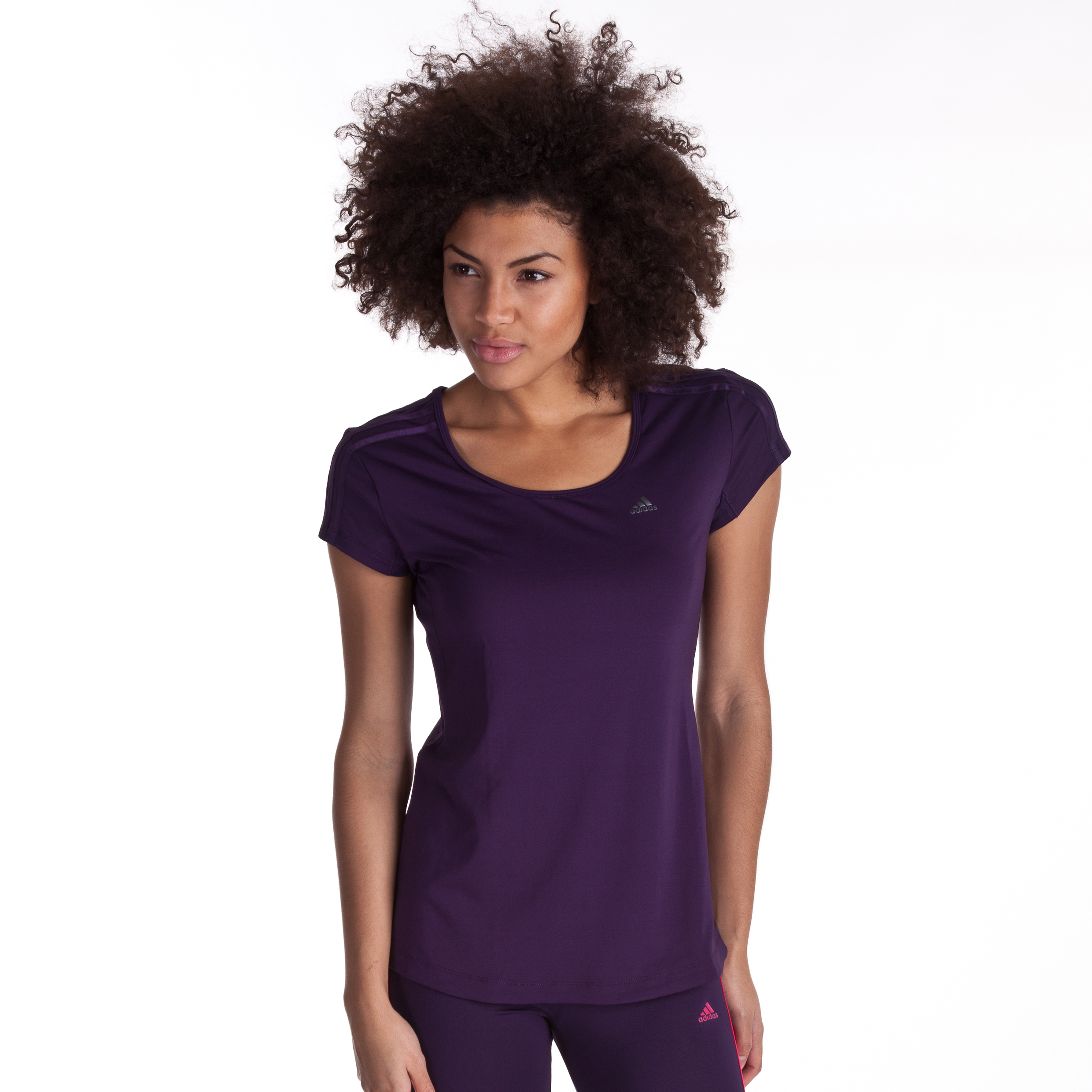 Adidas Climacool Training T-Shirt - Dark Violet - Womens