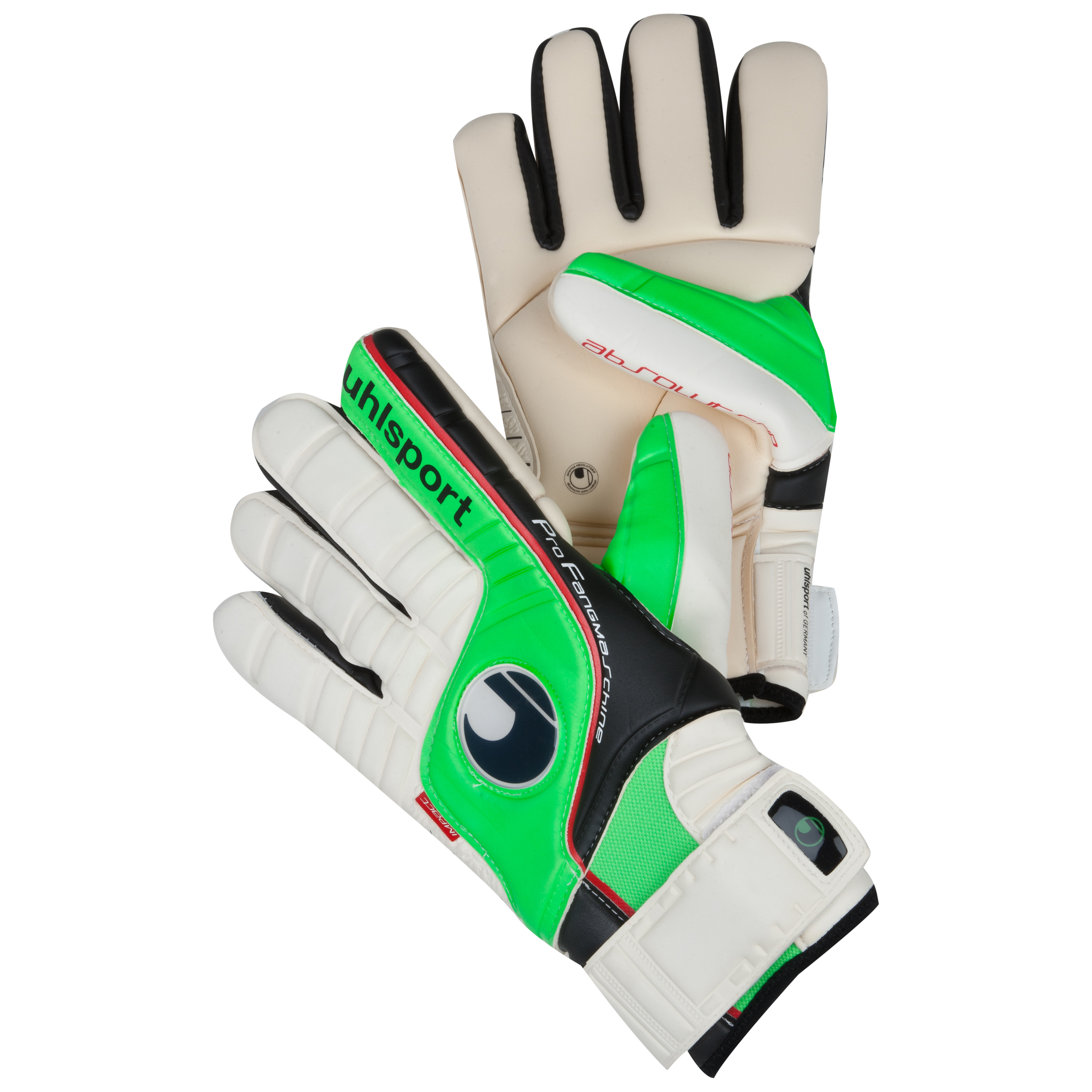 Uhlsport Fangmaschine HN Pro Goalkeeper Gloves - White/Flashgreen/Black