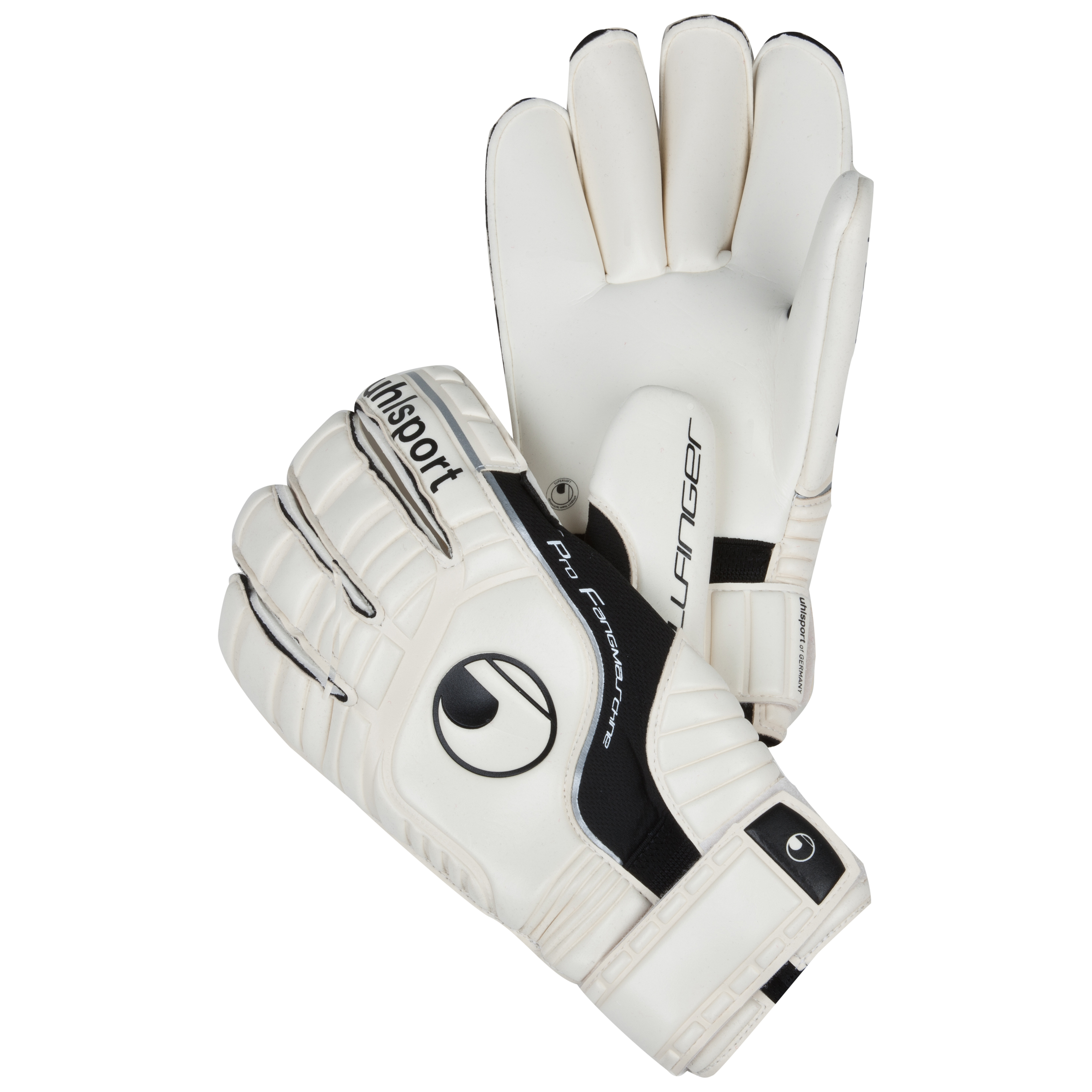 Uhlsport Pro Comfort Rollfinger Goalkeeper Gloves - White/Black