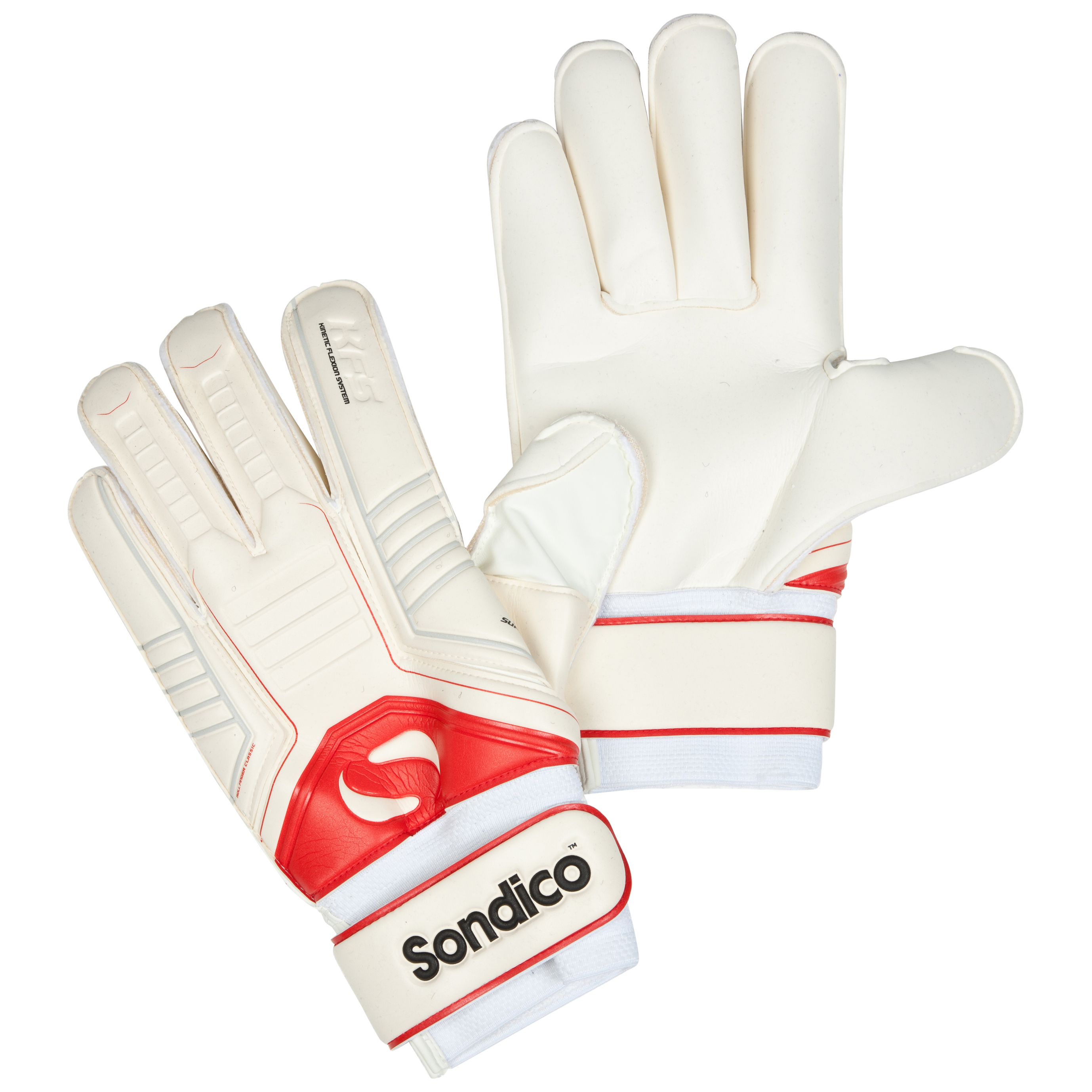 Sondico Sentinel Academy KFS Finger Protection Roll Finger Goalkeeper Gloves - White/Black/Cool Grey/Red
