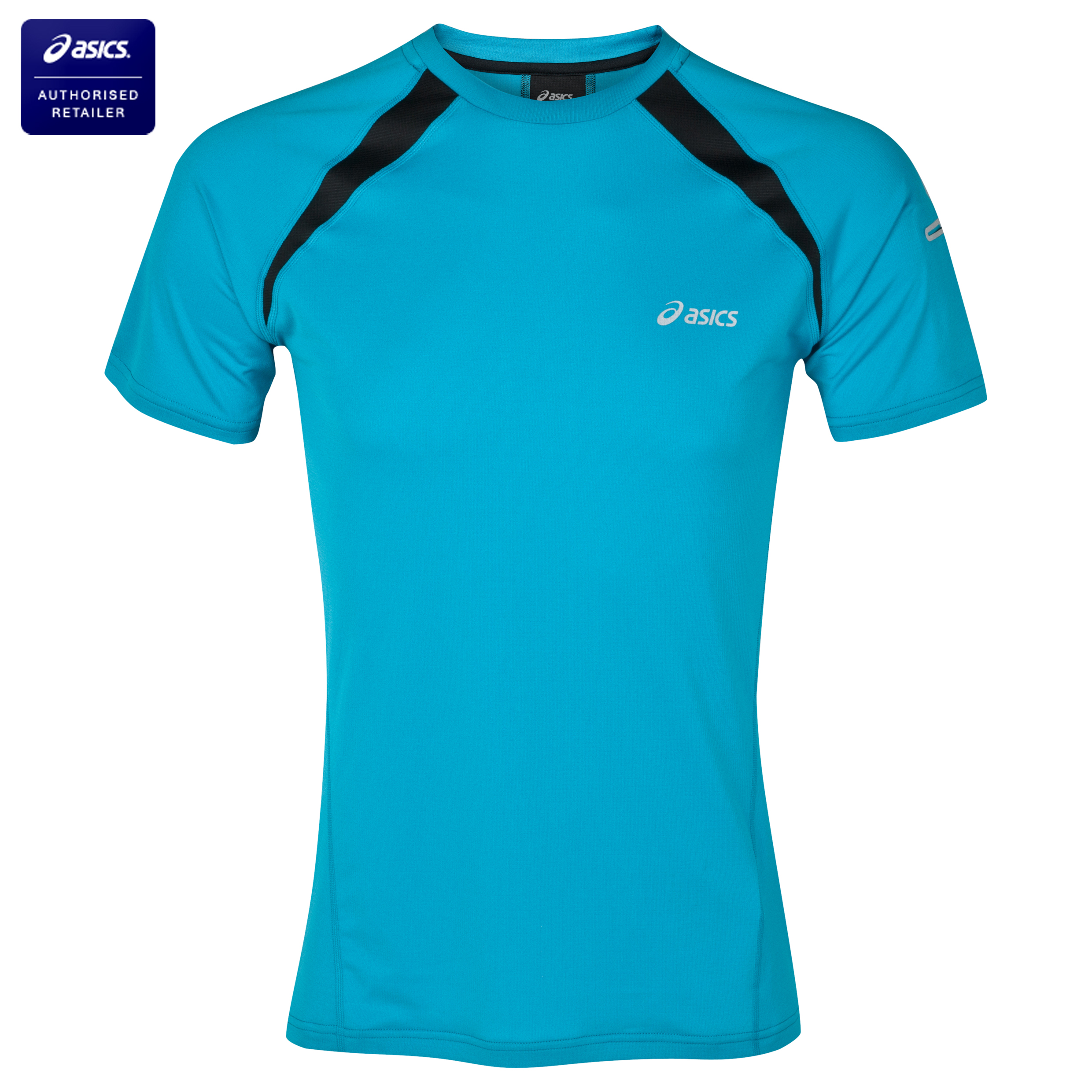 Asics Short Sleeve T-Shirt - Caribbean/Performance Black