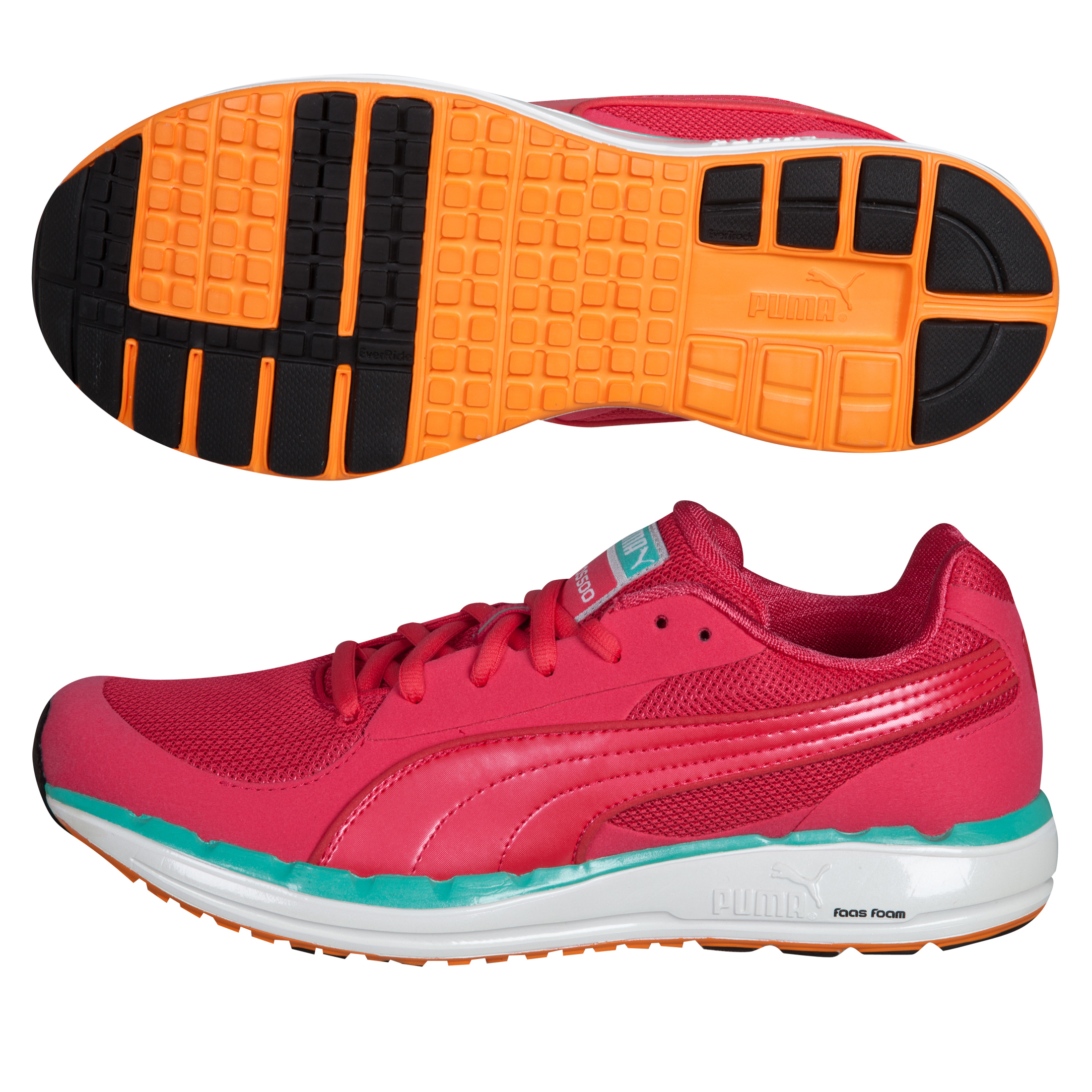 Puma Faas 500 Trainers - Teaberry Red/White Vermillion Orange - Womens
