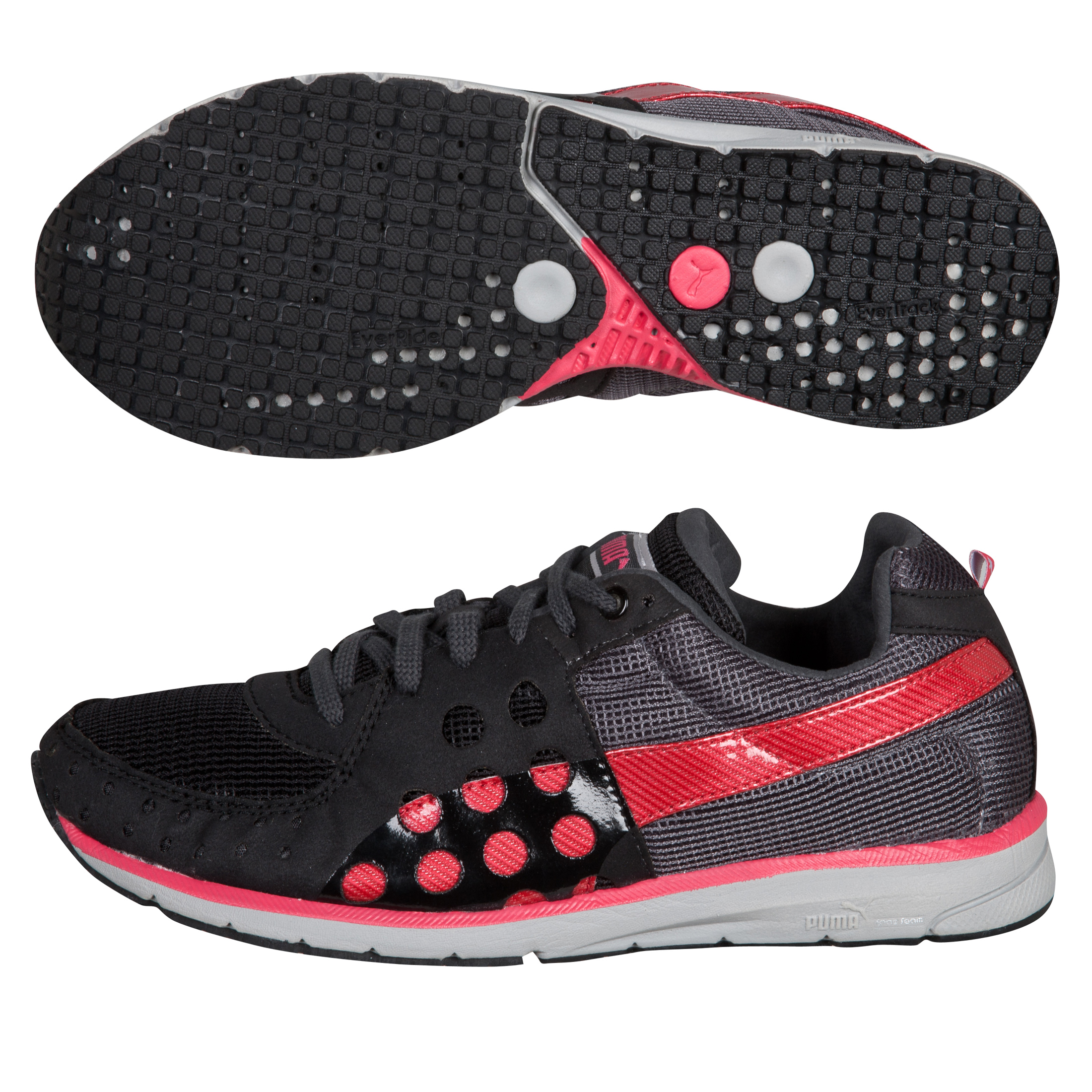 Puma Faas 300 Running Trainers - Black/Dark Shadow - Womens