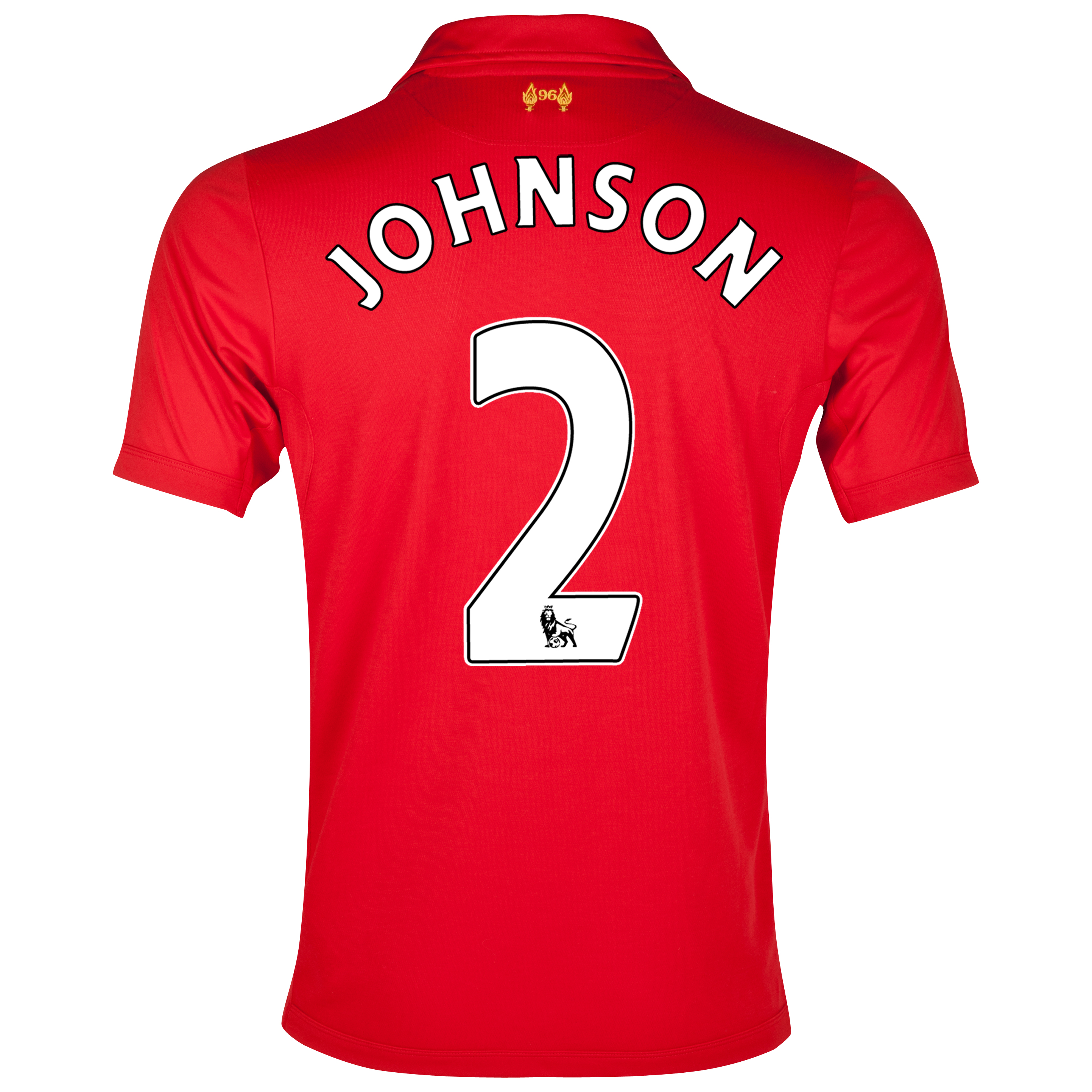 Liverpool Home Shirt 2012/13 with Johnson 2 printing
