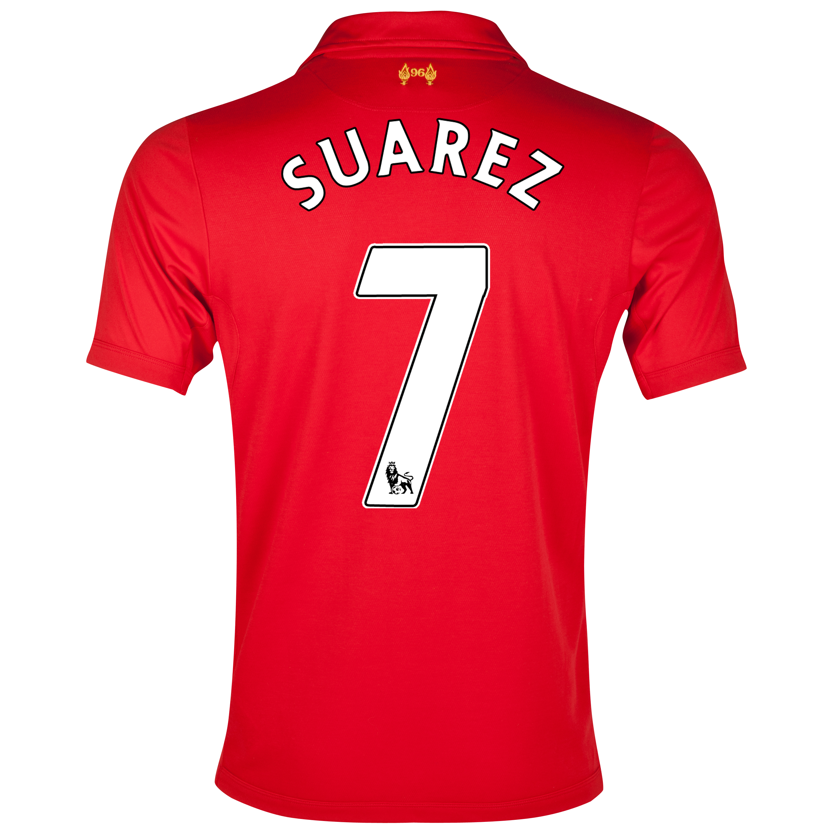 Liverpool Home Shirt 2012/13 with Suarez 7 printing