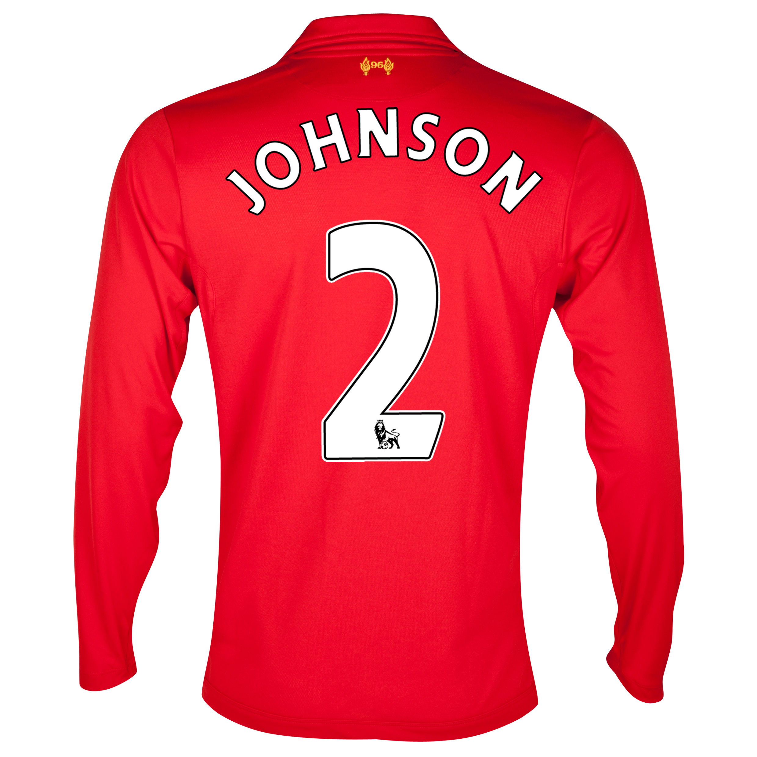 Liverpool Home Shirt 2012/13 - Long Sleeve with Johnson 2 printing