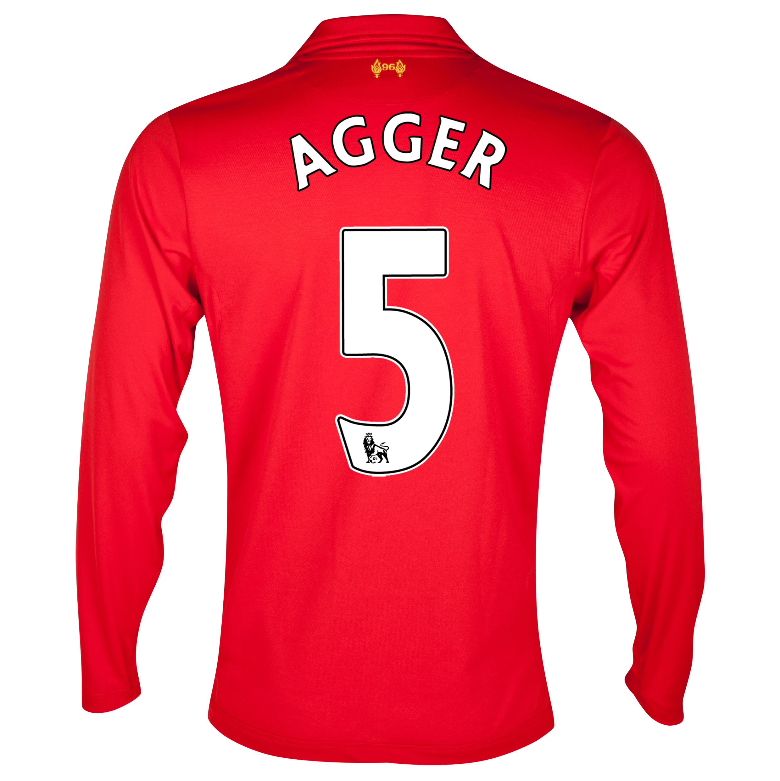 Liverpool Home Shirt 2012/13 - Long Sleeve with Agger 5 printing