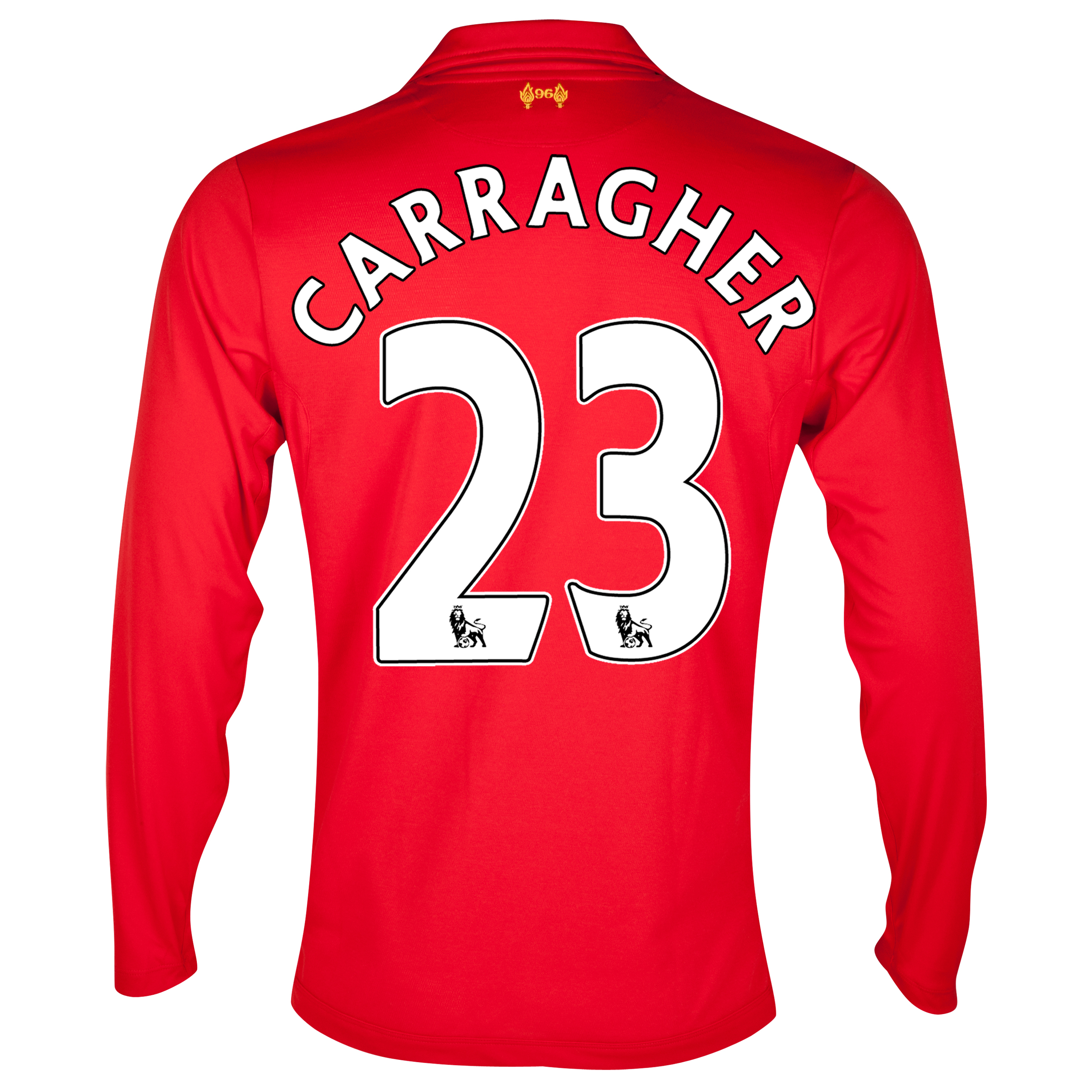 Liverpool Home Shirt 2012/13 - Long Sleeve with Carragher 23 printing