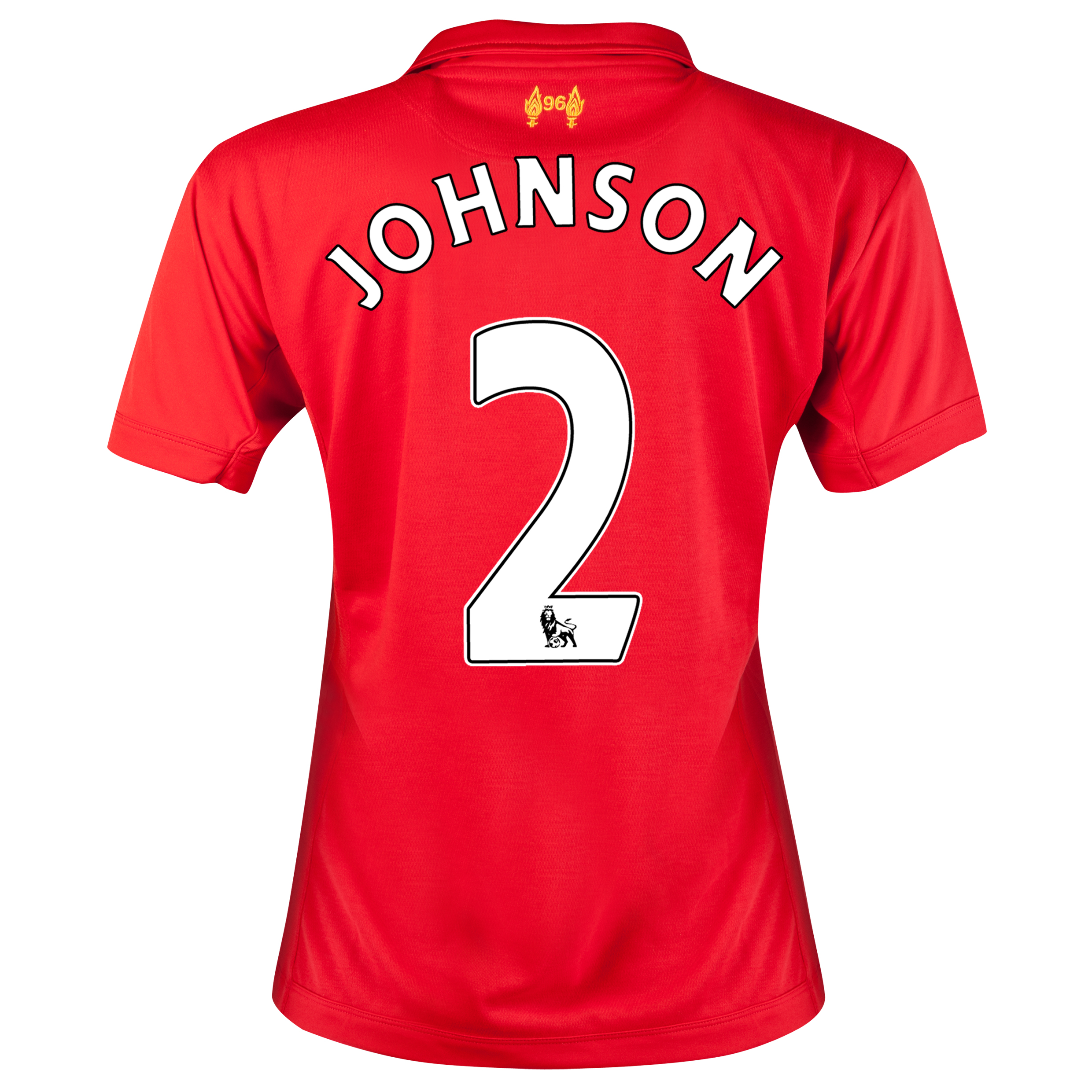 Liverpool Home Shirt 2012/13 - Womens with Johnson 2 printing