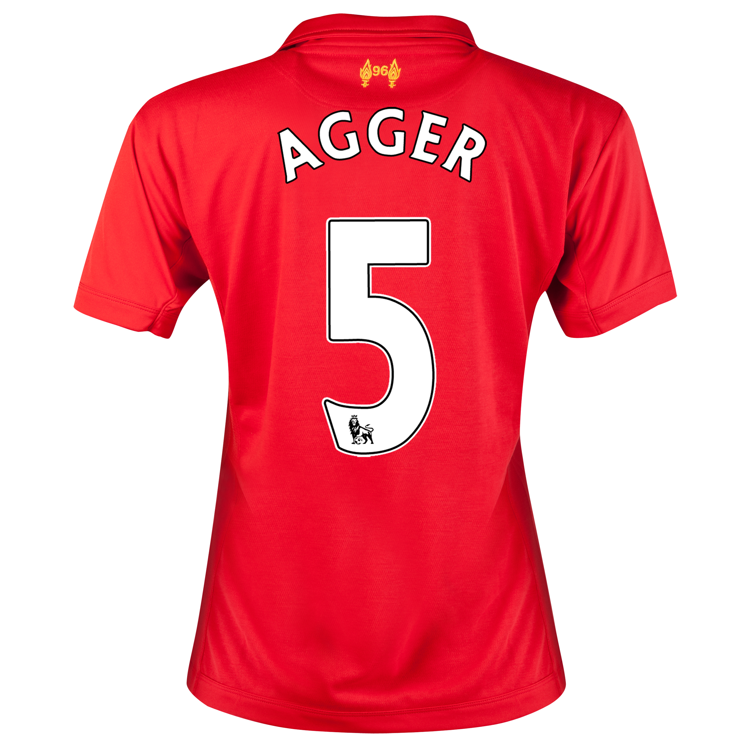 Liverpool Home Shirt 2012/13 - Womens with Agger 5 printing