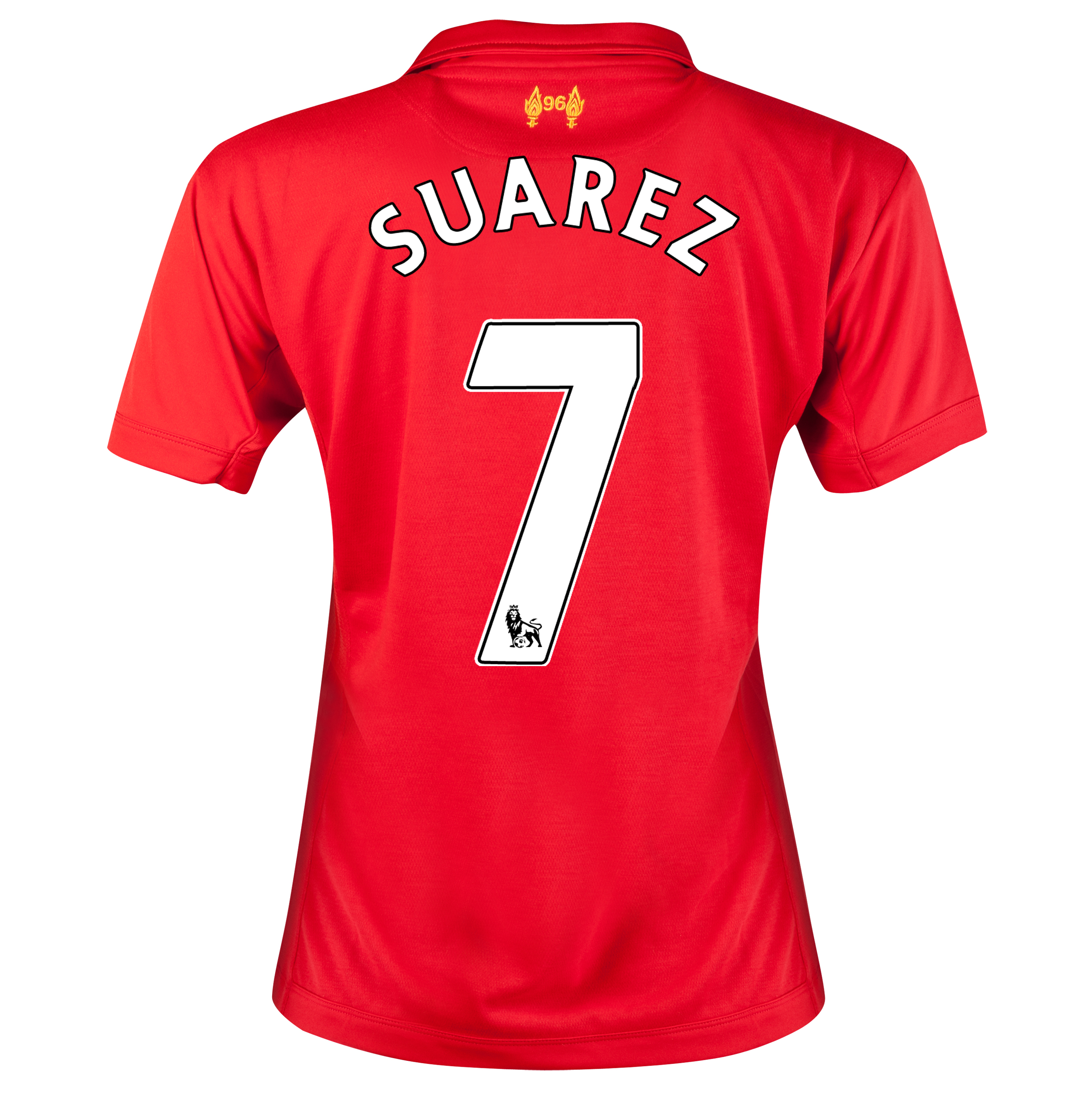 Liverpool Home Shirt 2012/13 - Womens with Suarez 7 printing