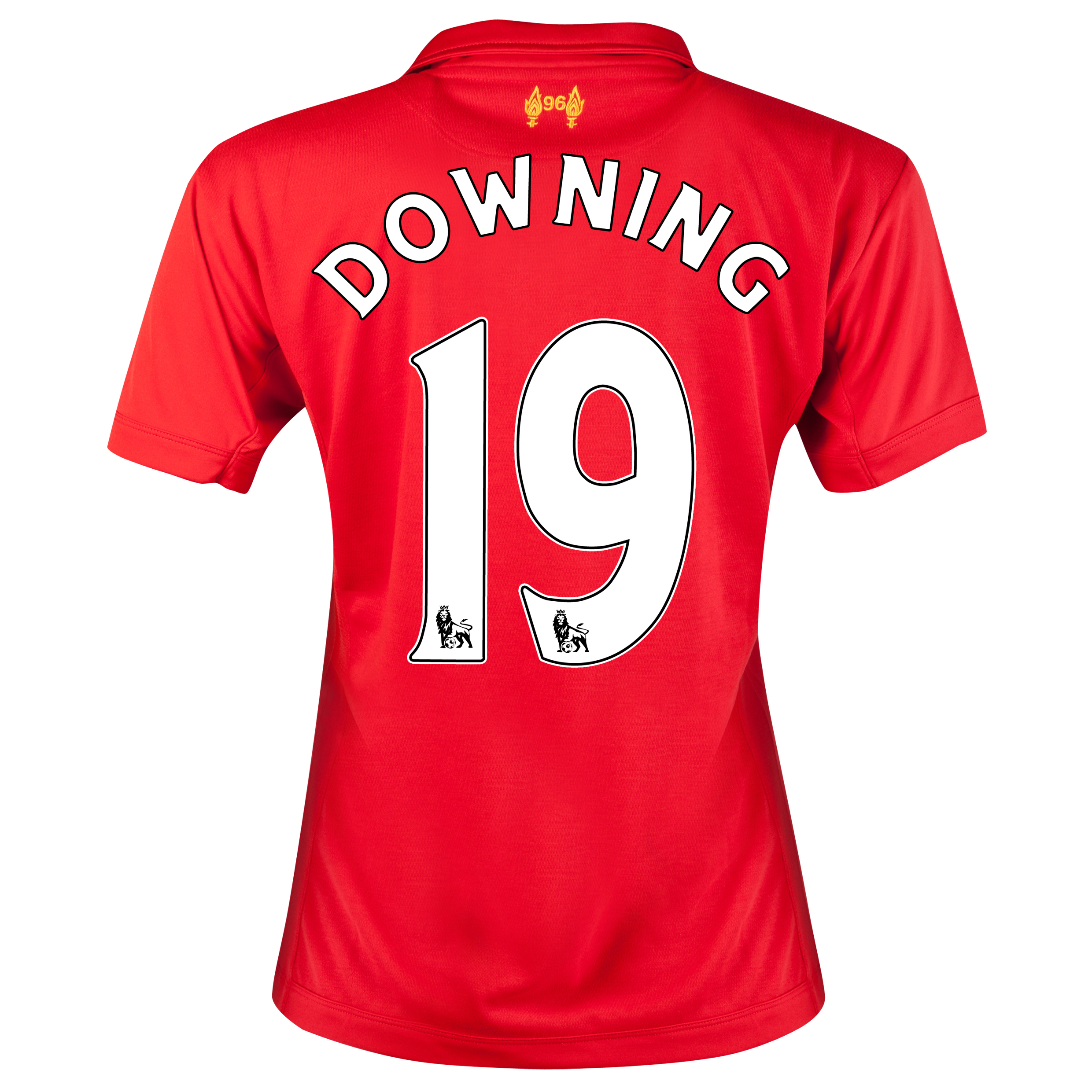 Liverpool Home Shirt 2012/13 - Womens with Downing 19 printing