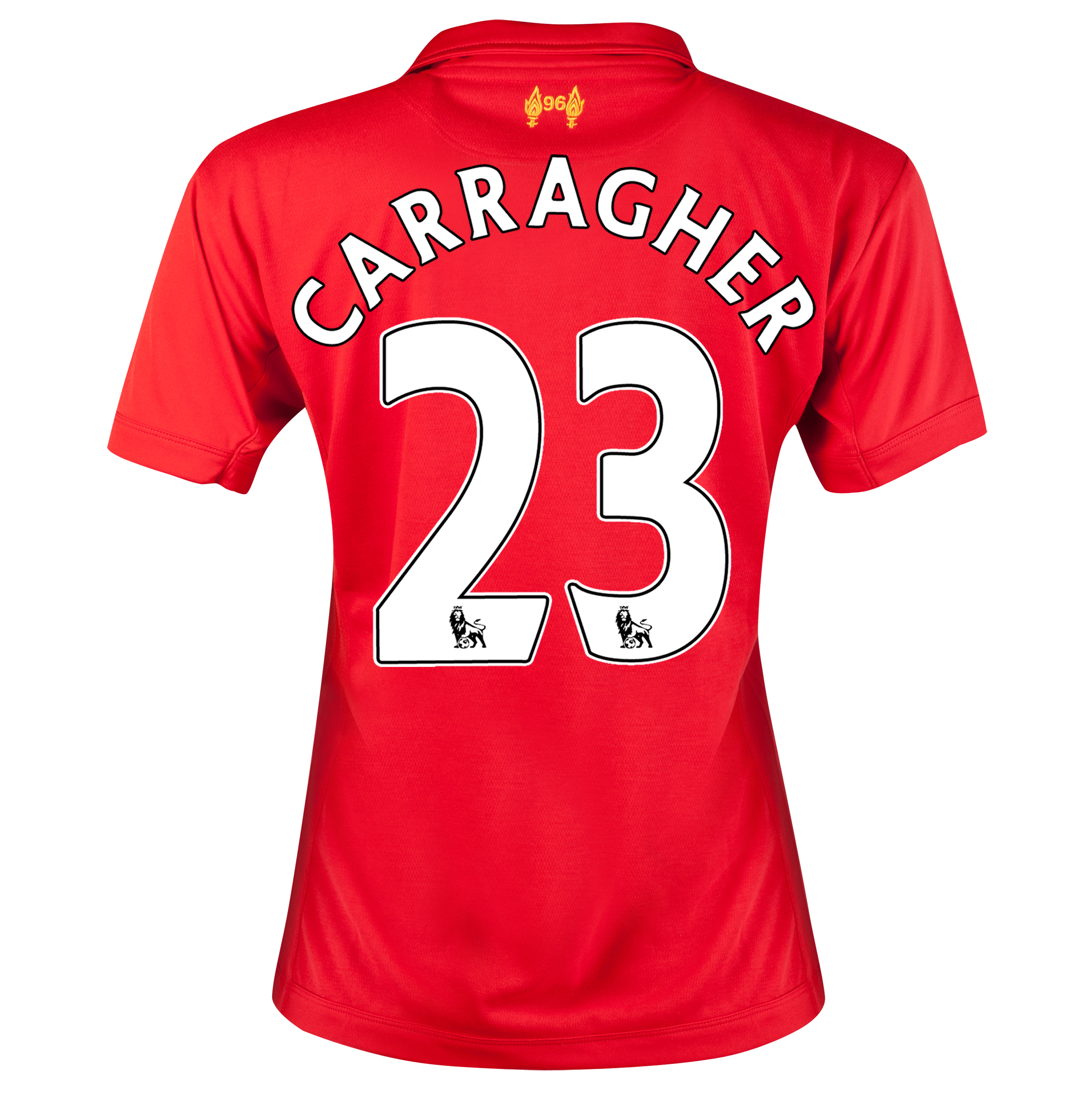 Liverpool Home Shirt 2012/13 - Womens with Carragher 23 printing