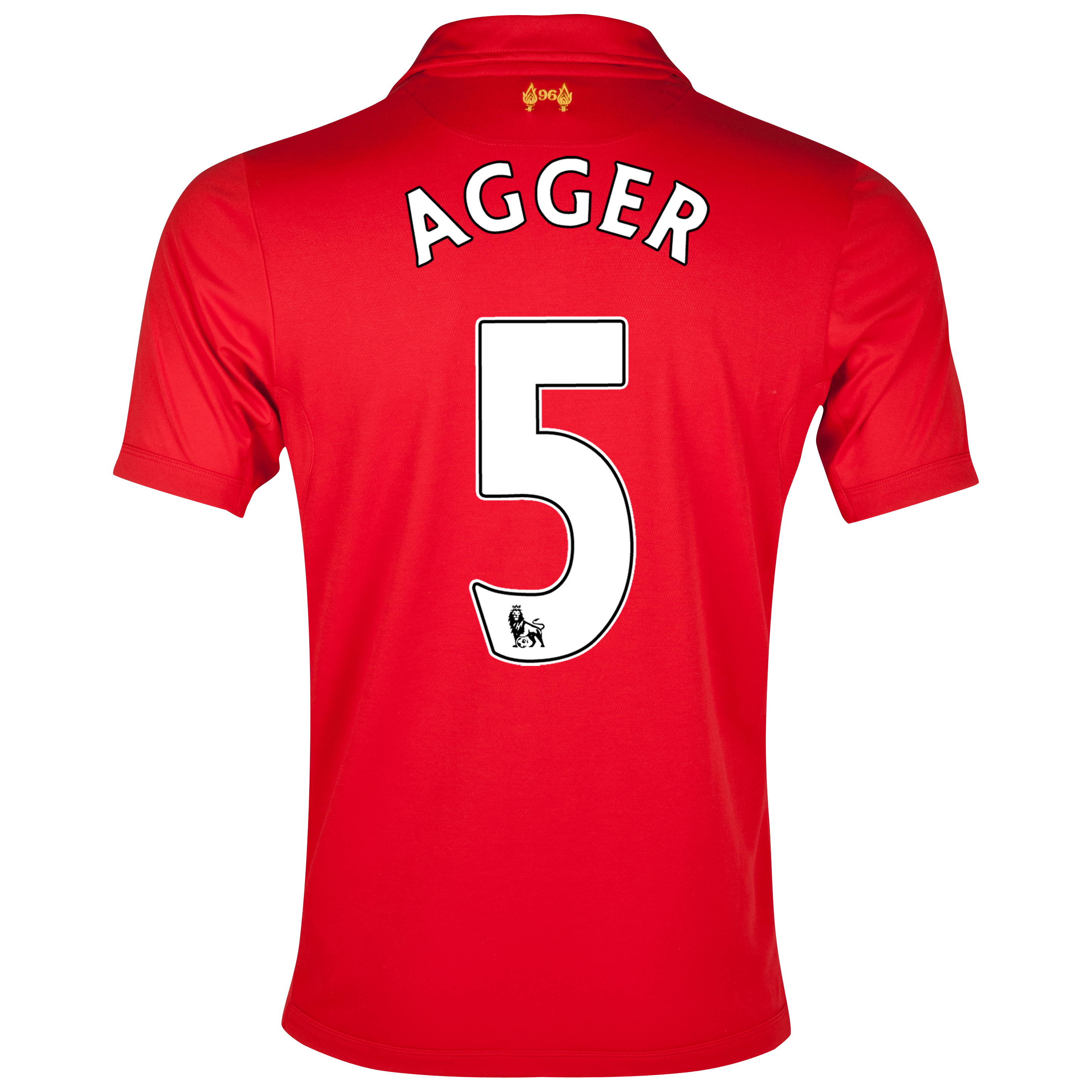 Liverpool Home Shirt 2012/13 - Kids with Agger 5 printing