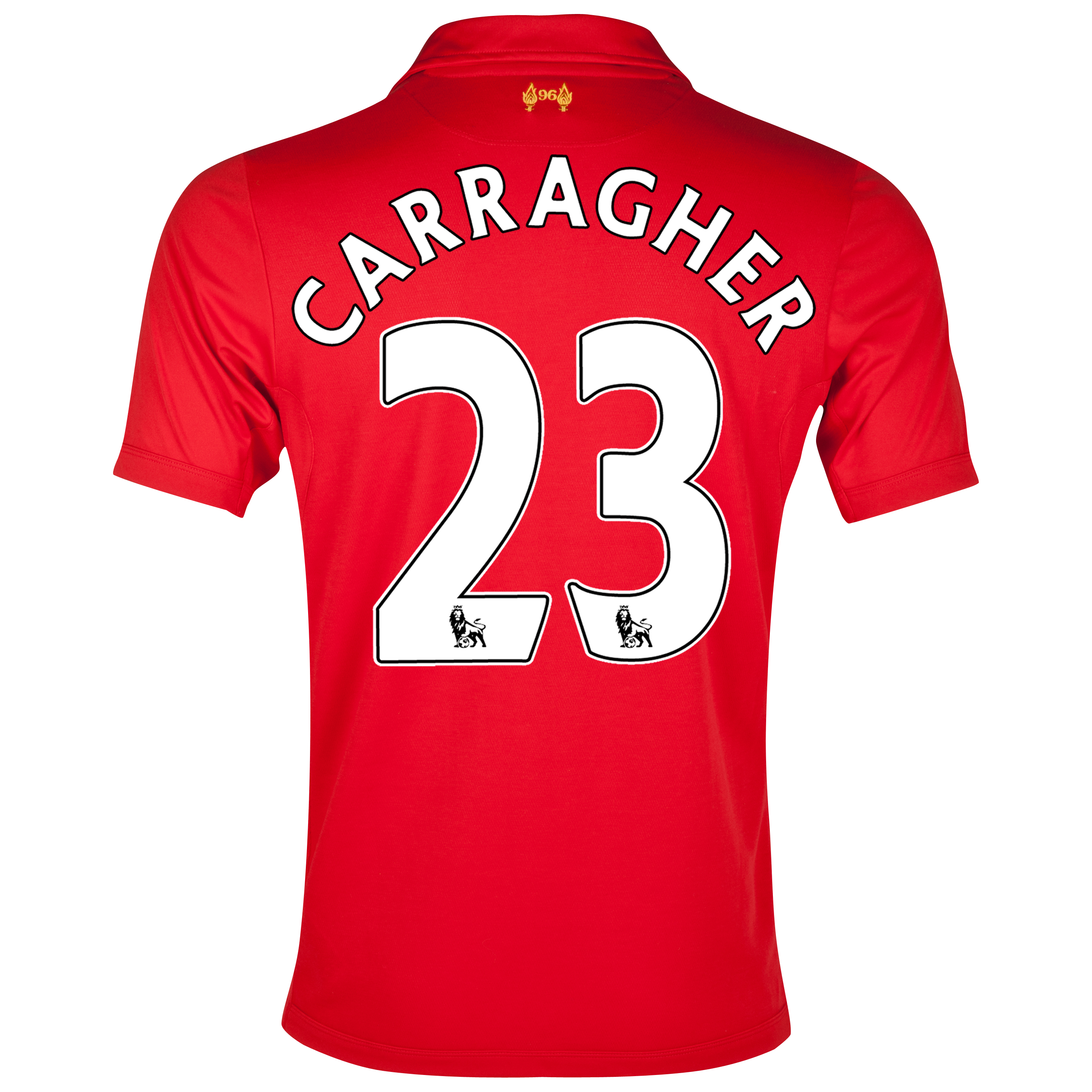 Liverpool Home Shirt 2012/13 - Kids with Carragher 23 printing