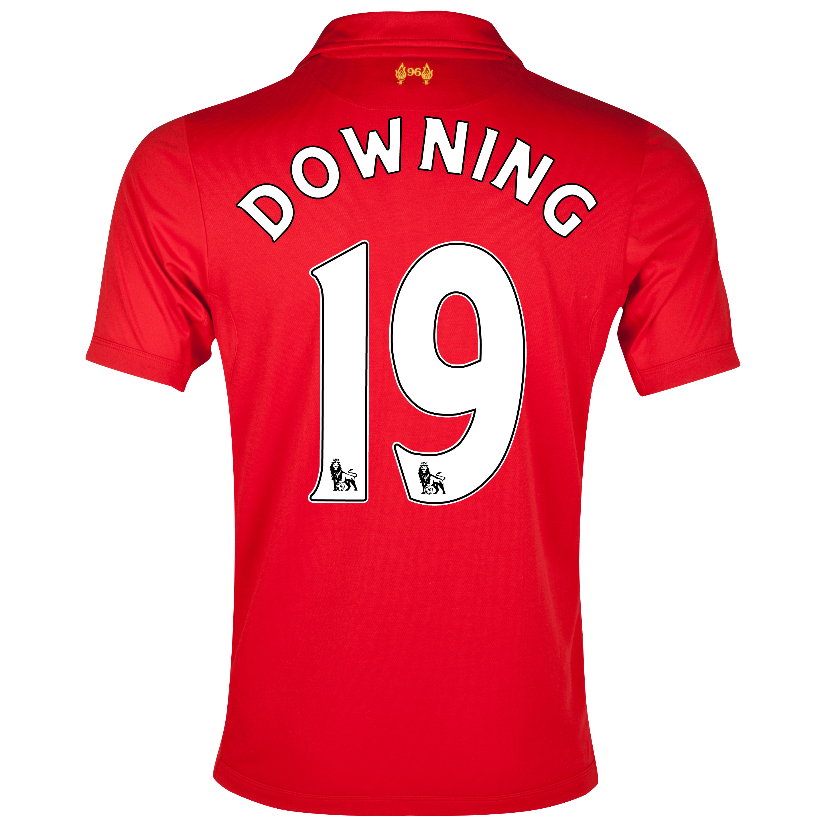 Liverpool Home Shirt 2012/13 - Youths with Downing 19 printing
