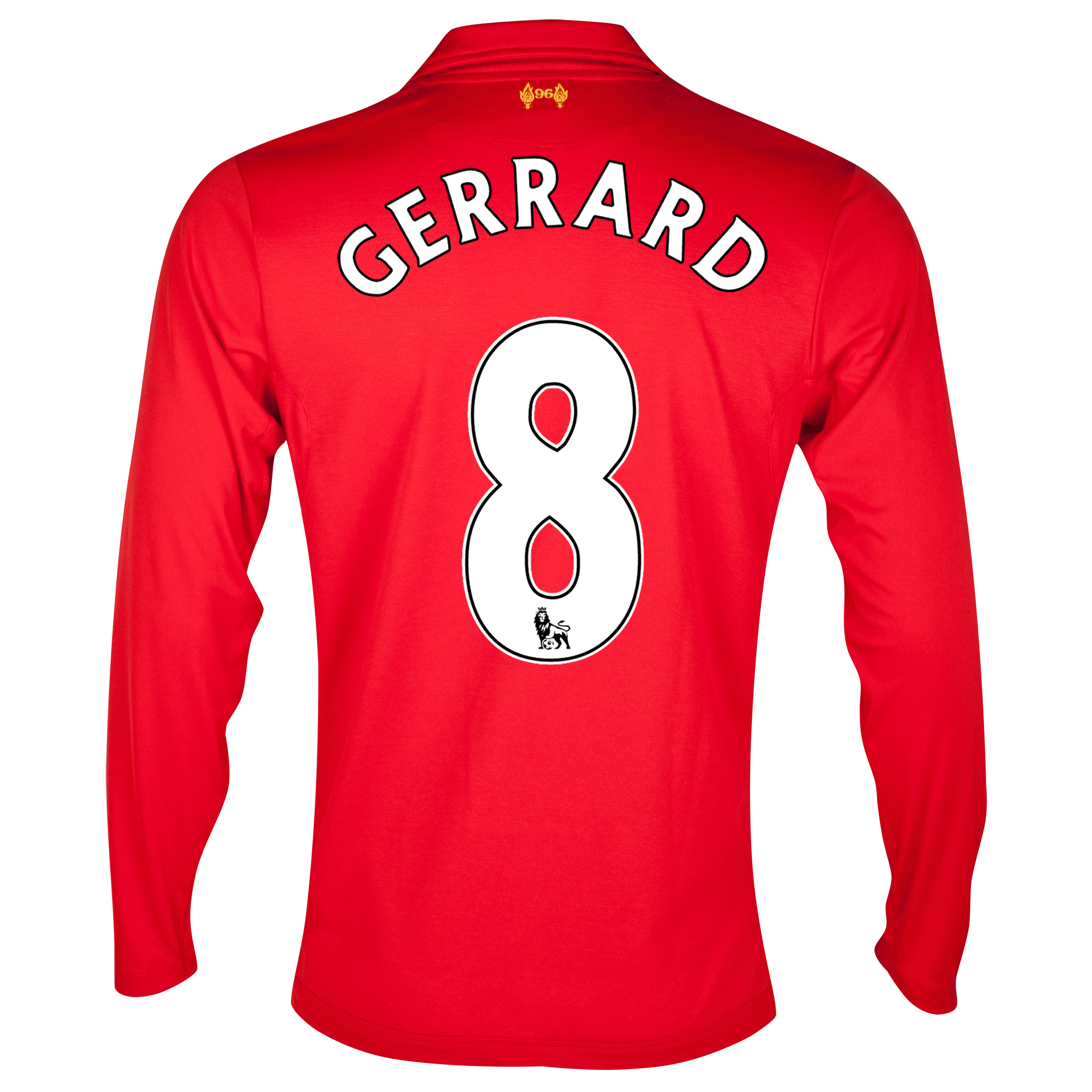 Liverpool Home Shirt 2012/13 - Long Sleeve - Youths with Gerrard 8 printing