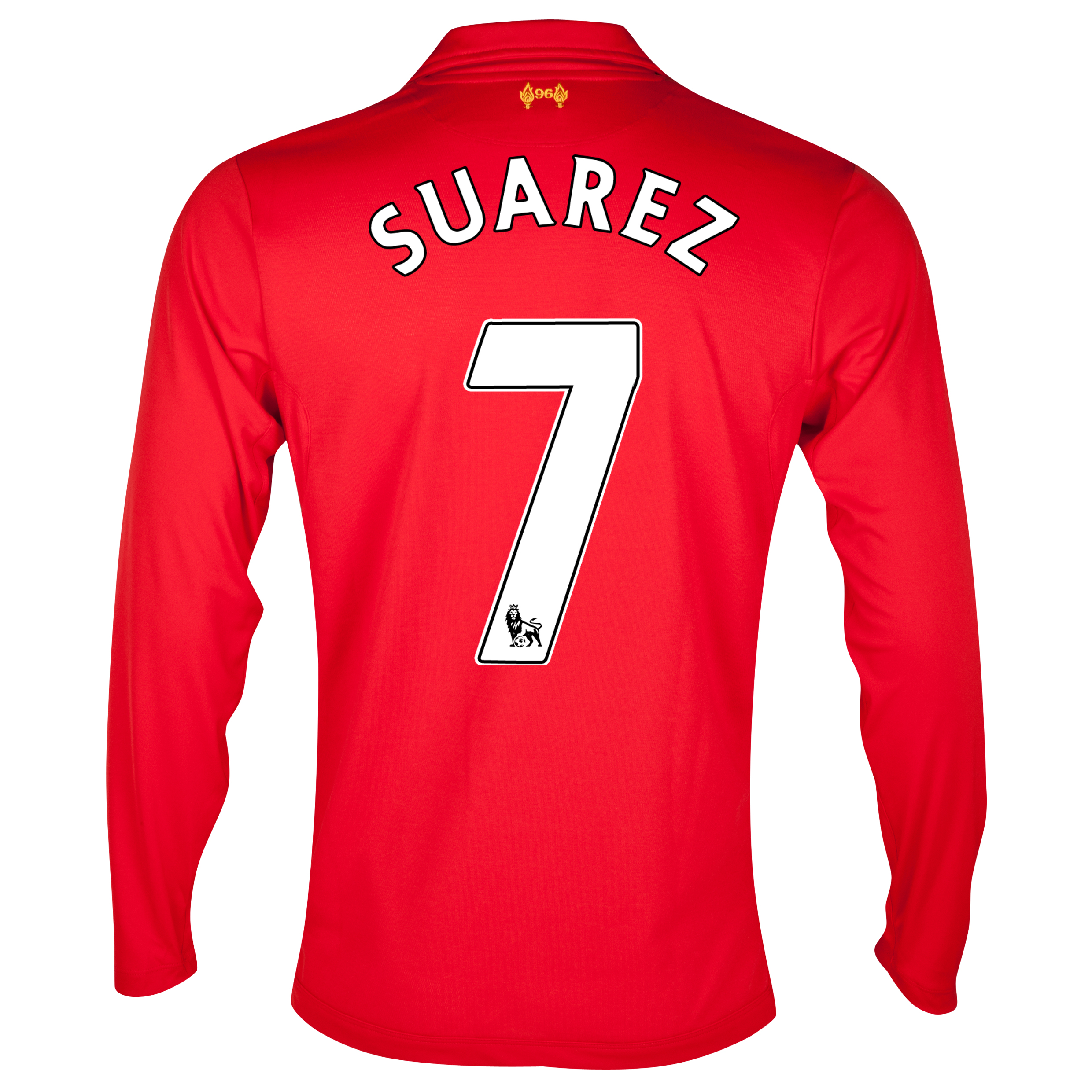 Liverpool Home Shirt 2012/13 - Long Sleeve - Kids with Suarez 7 printing